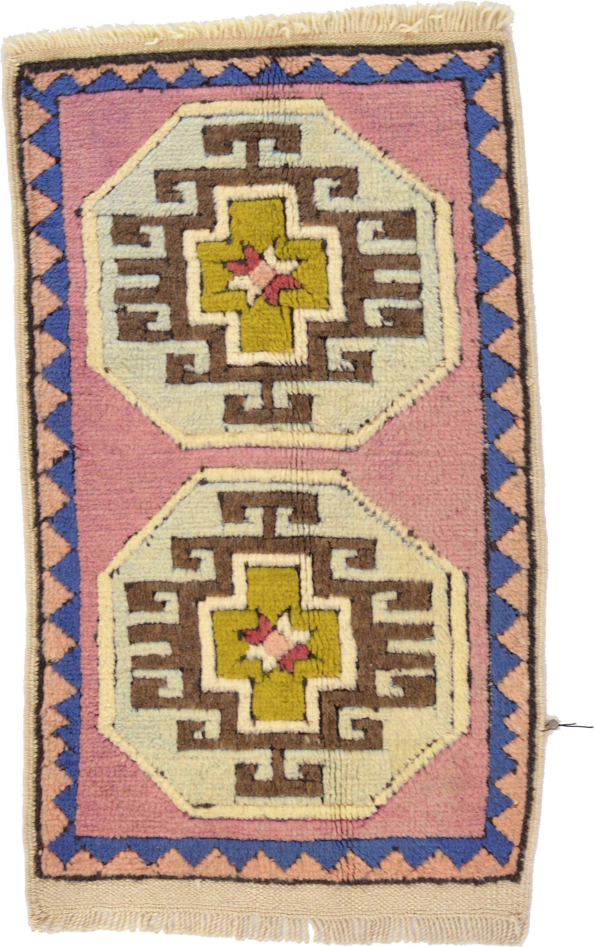 One-of-a-Kind Glenaire Hand-Knotted 1'10