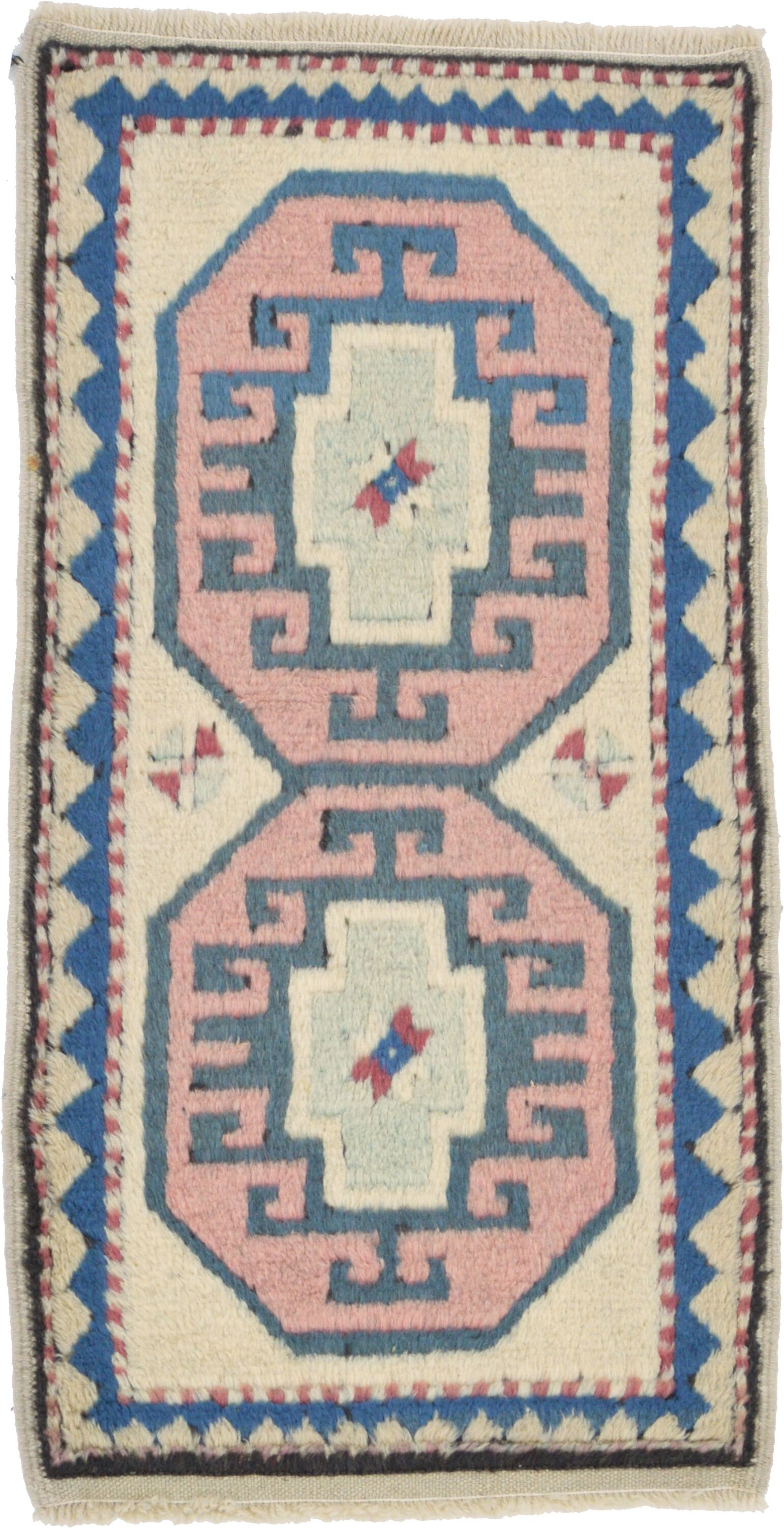 One-of-a-Kind Glenaire Hand-Knotted 1'8
