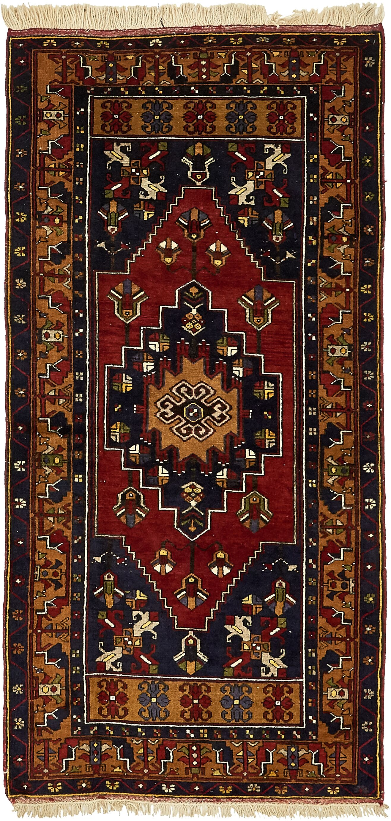 One-of-a-Kind Glenaire Hand-Knotted Runner 3'7