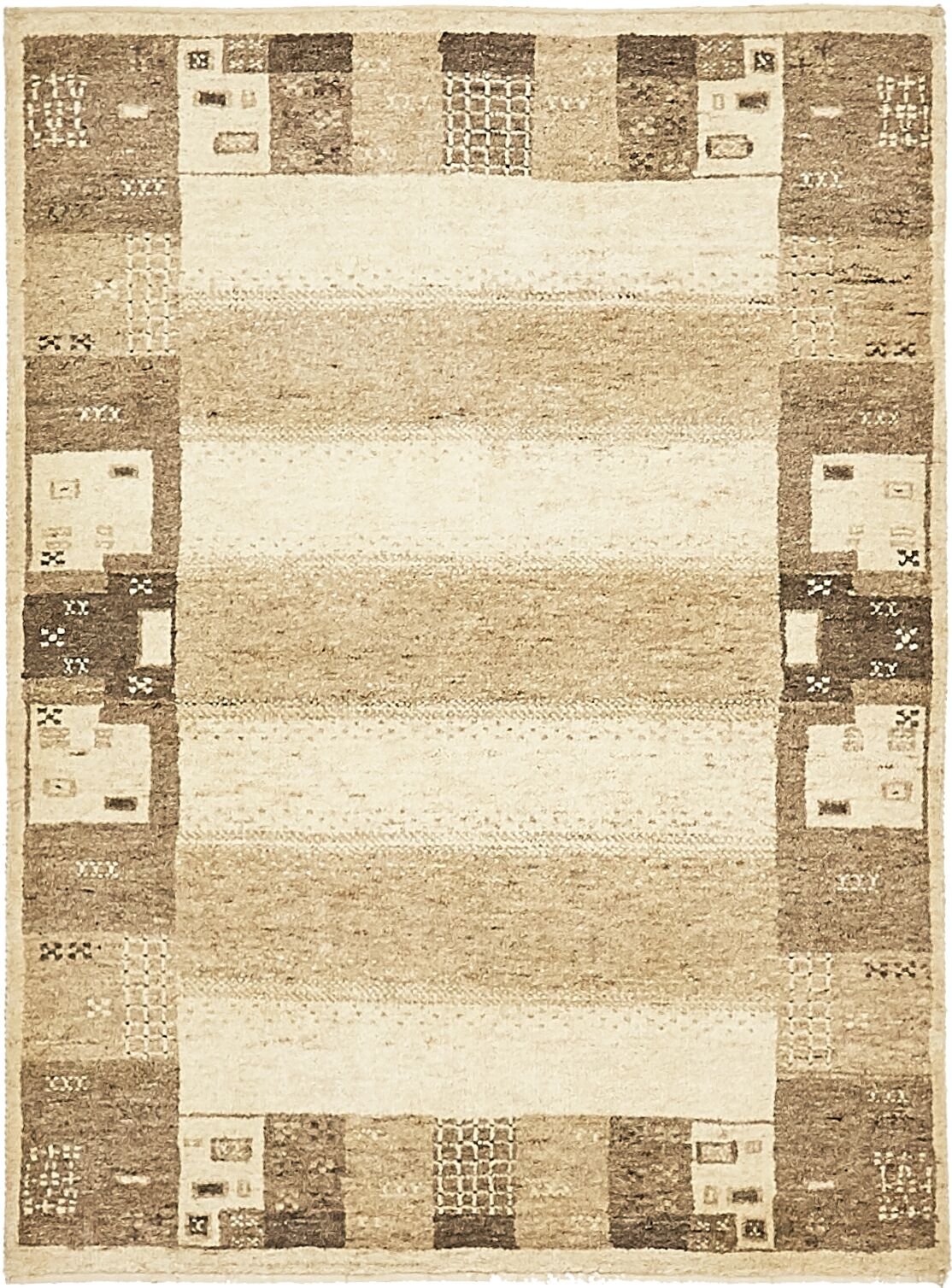 One-of-a-Kind Didcot Hand-Knotted 3' x 4' Wool Cream Area Rug
