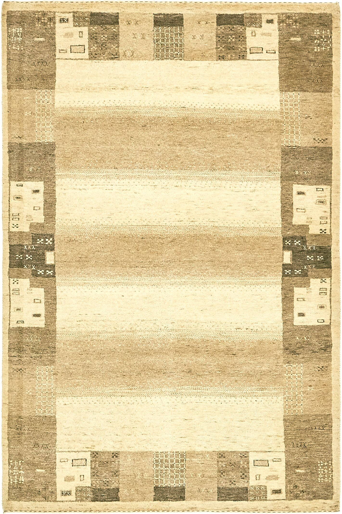 One-of-a-Kind Didcot Hand-Knotted 4' x 6' Wool Cream/Brown Area Rug