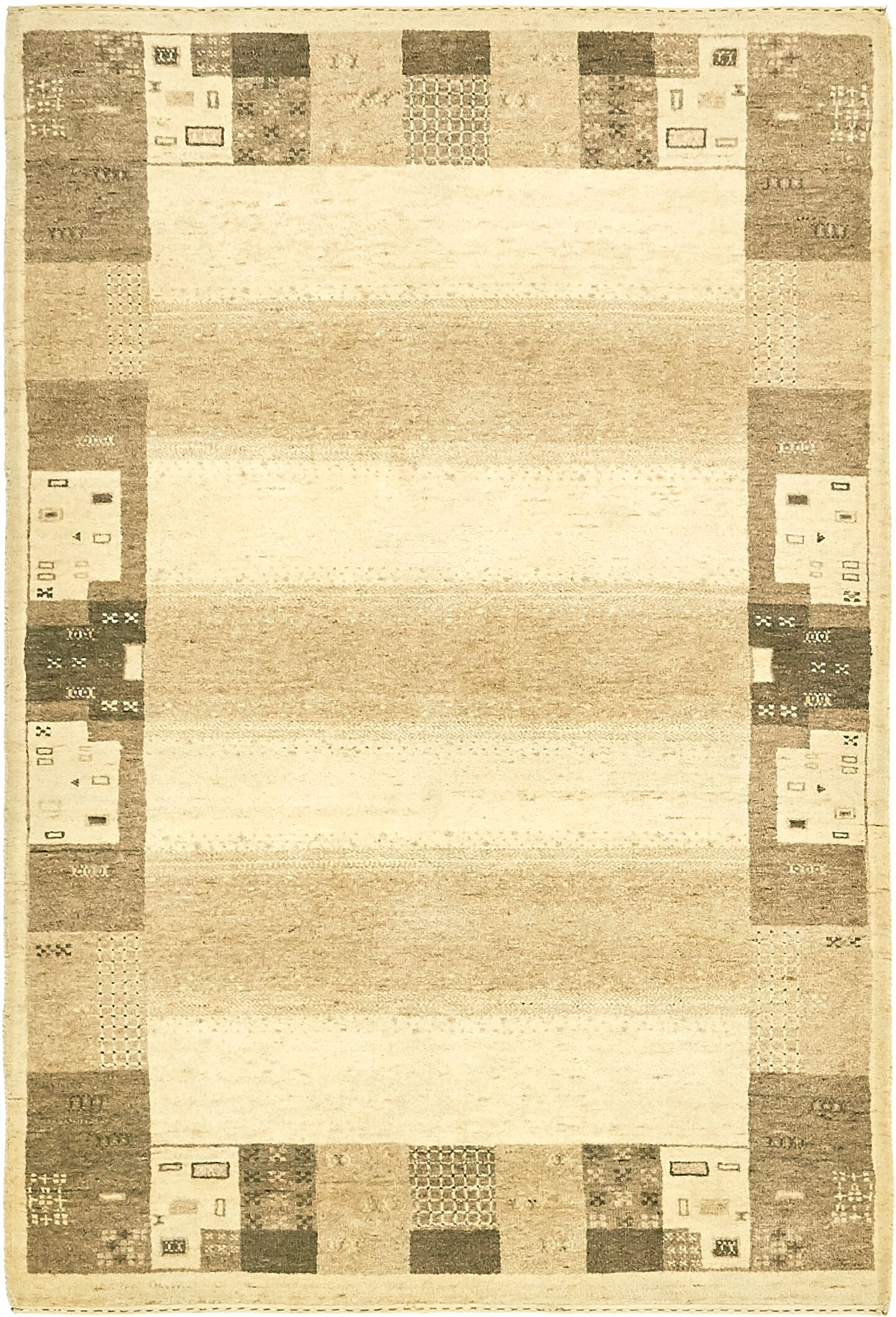 One-of-a-Kind Didcot Hand-Knotted 4' x 6' Wool Cream Area Rug