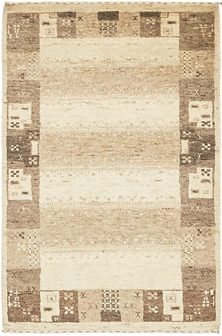 One-of-a-Kind Didcot Hand-Knotted 2' x 3' Wool Cream/Brown Area Rug