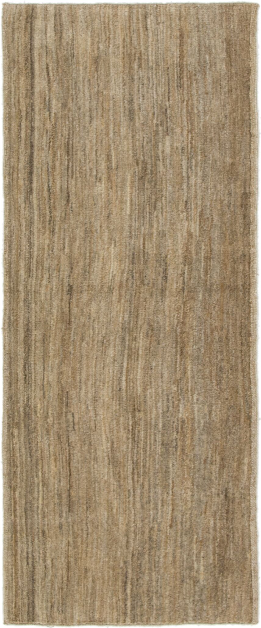 One-of-a-Kind Didcot Hand-Knotted Runner 2' x 5' Wool Light Brown Area Rug