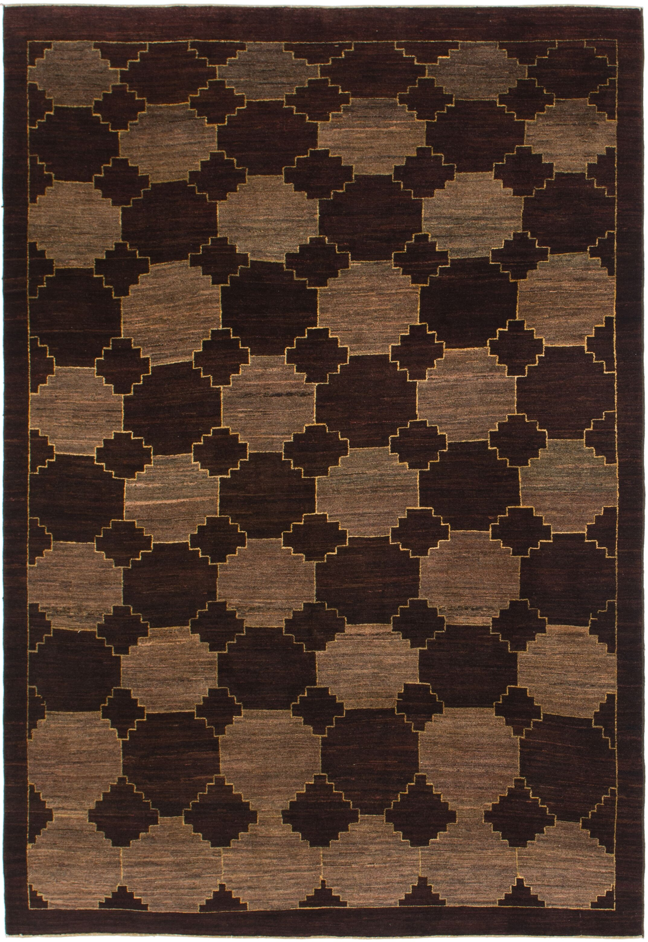 One-of-a-Kind Didcot Hand-Knotted 6' x 9' Wool Burgundy/Brown Area Rug