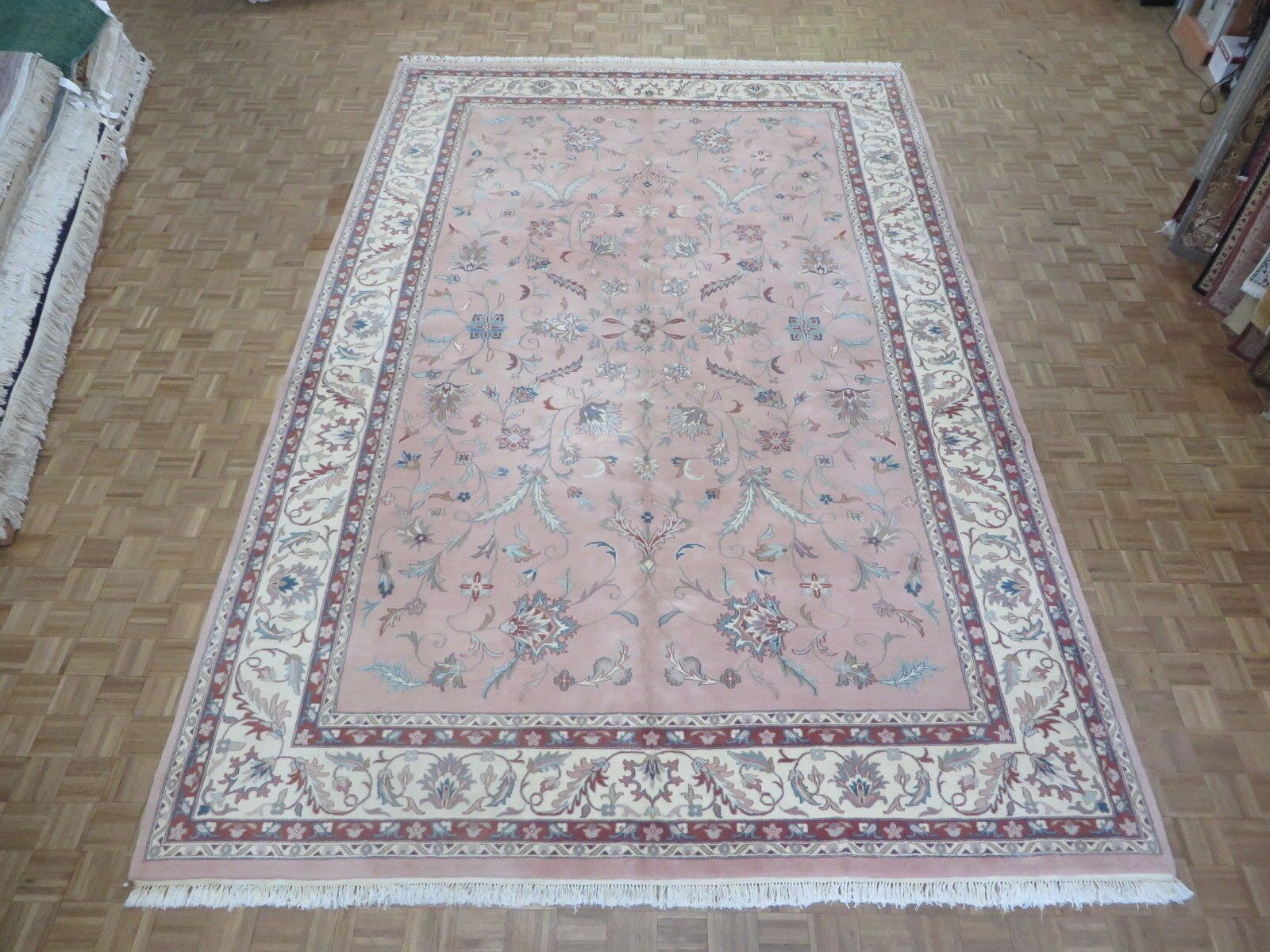 One-of-a-Kind Benally Design Hand-Knotted Wool Pink Area Rug