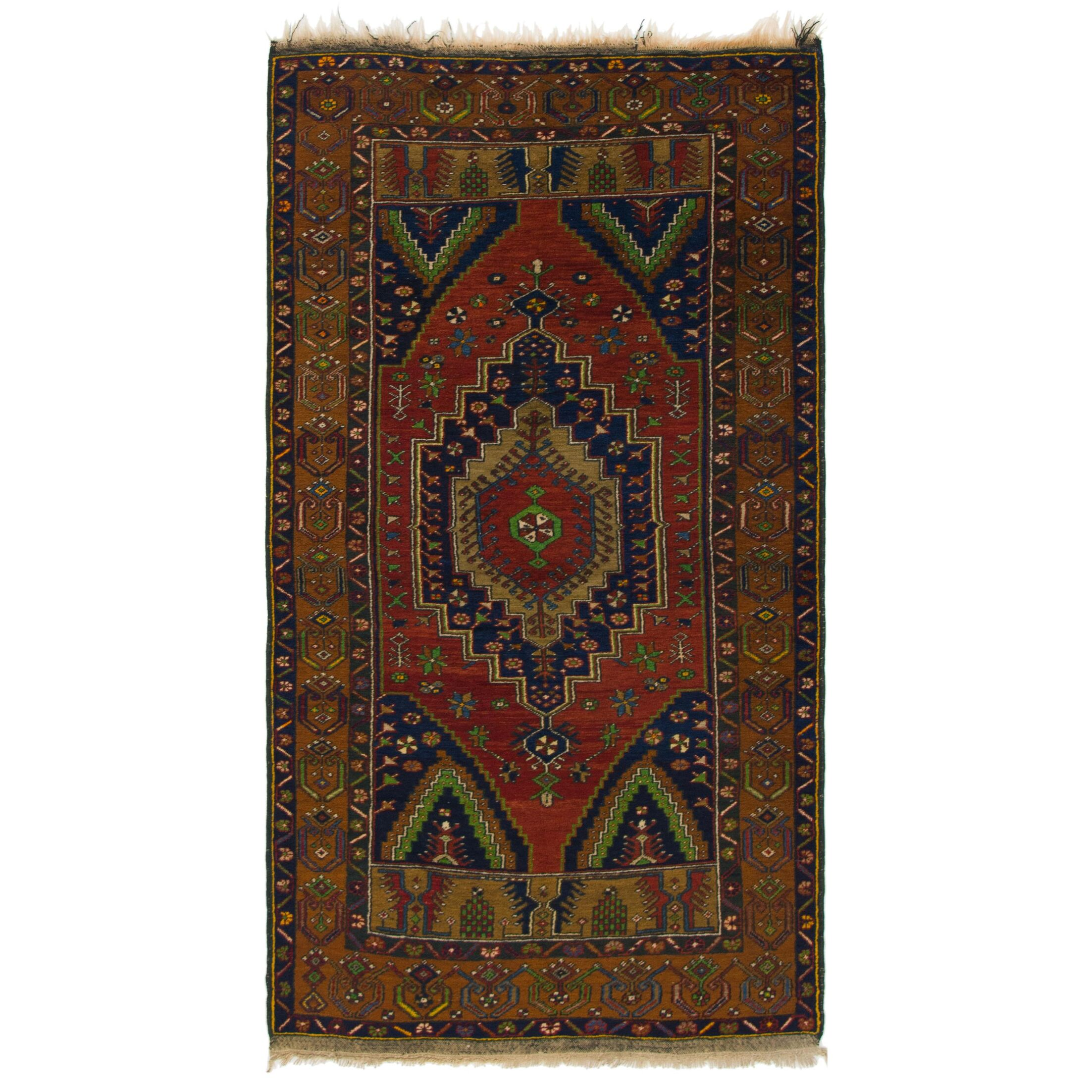 One-of-a-Kind Diana Hand-Knotted Wool Red/Brown Area Rug