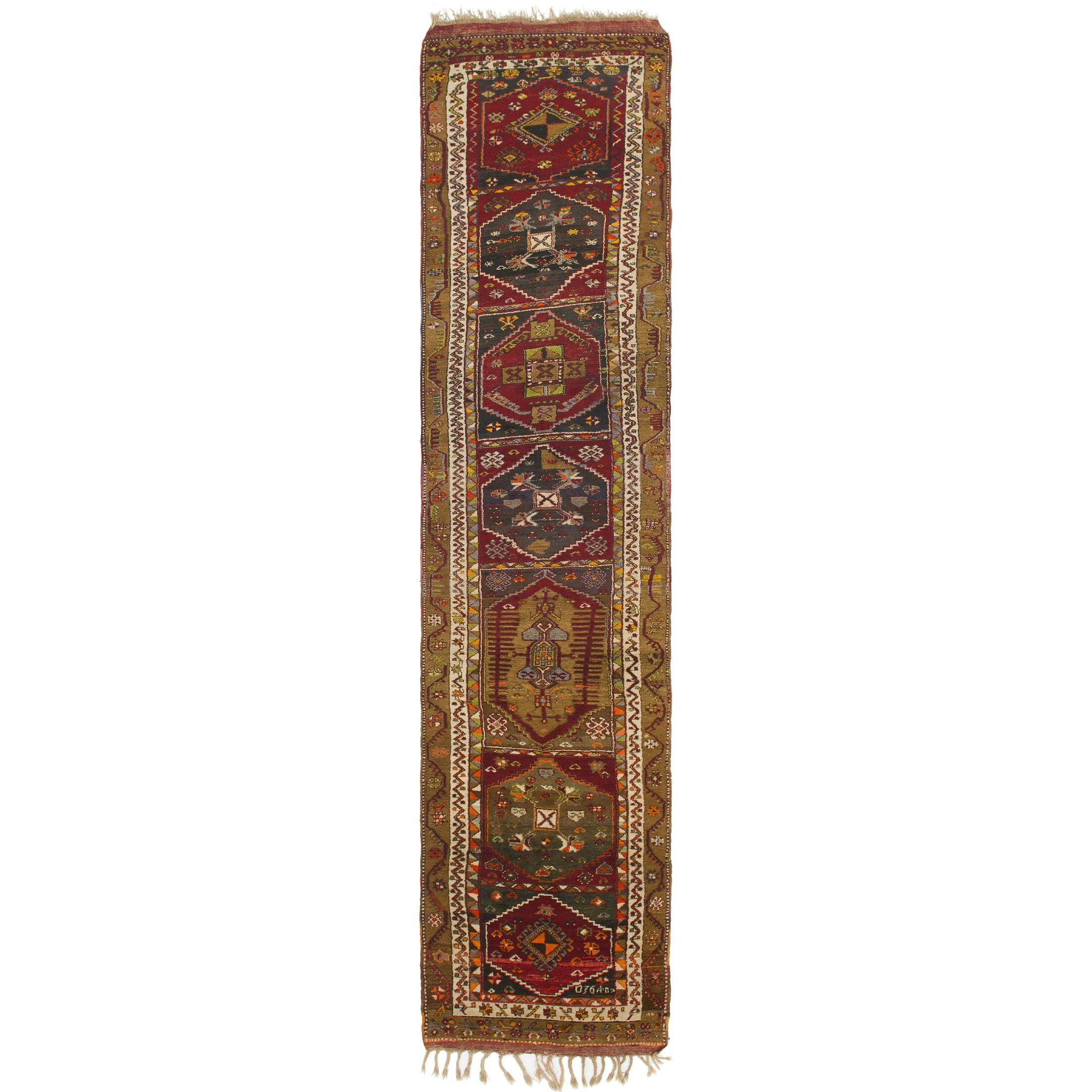 One-of-a-Kind Diana Hand-Knotted Wool Brown/Red Area Rug