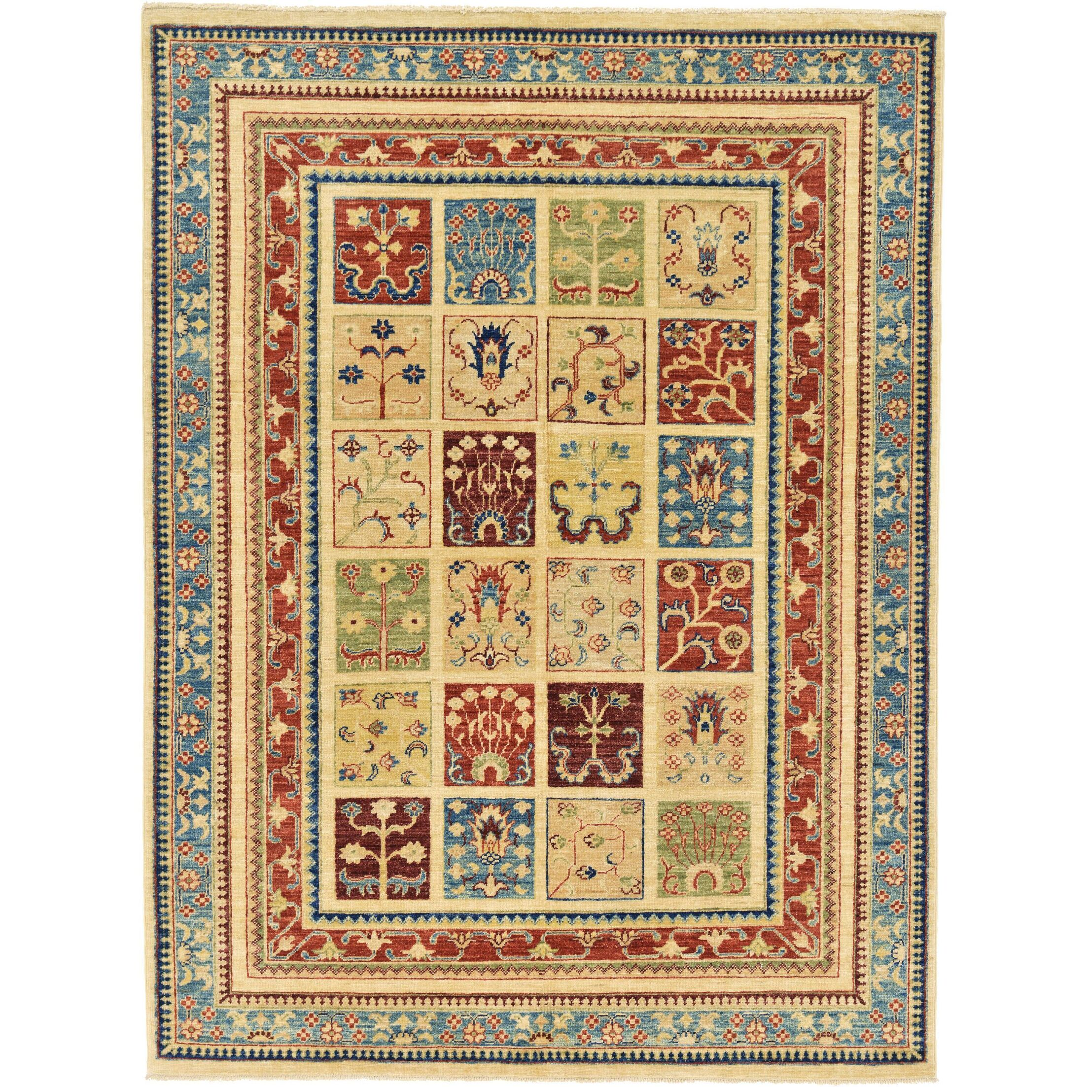 One-of-a-Kind Denver Hand-Knotted Wool Light Brown/Blue Area Rug