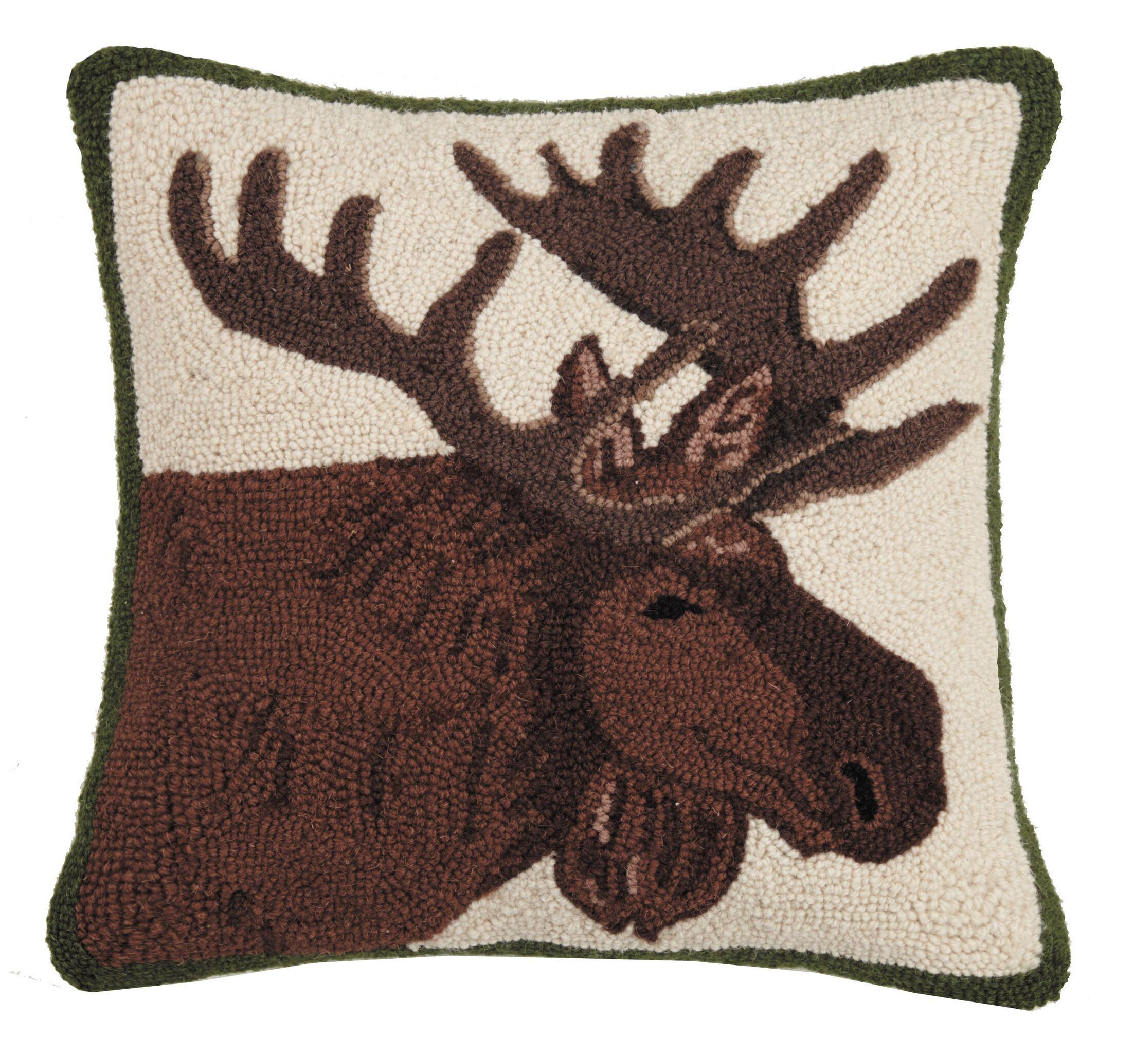Leni Moose Hook Throw Pillow