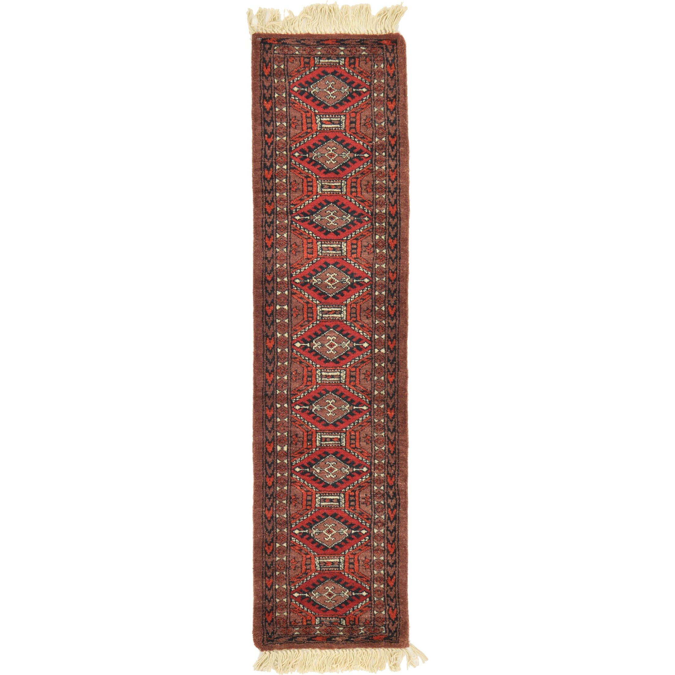 One-of-a-Kind Tekke Hand-Knotted Wool Red/Brown Area Rug