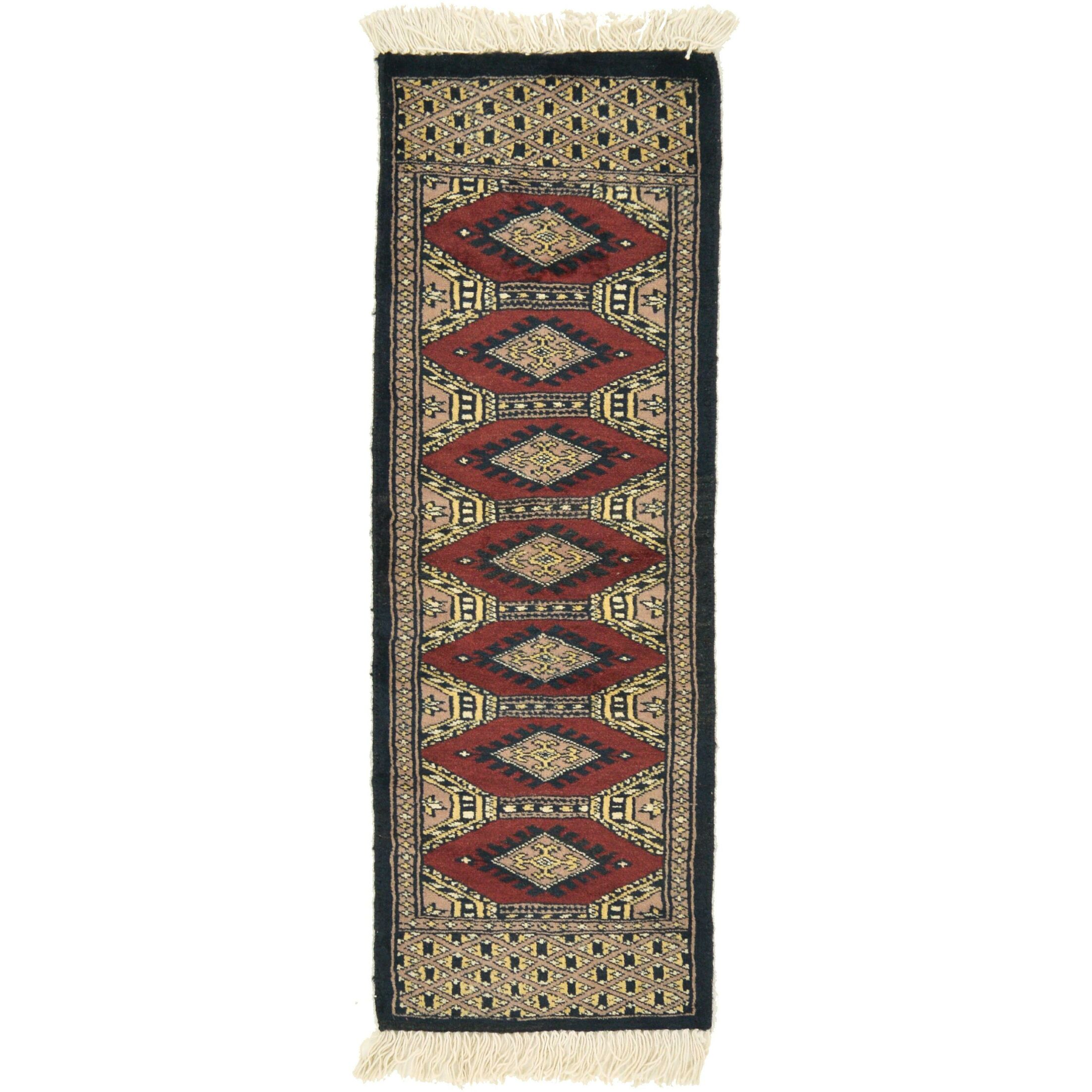 One-of-a-Kind Tekke Hand-Knotted Wool Peach/Red Area Rug