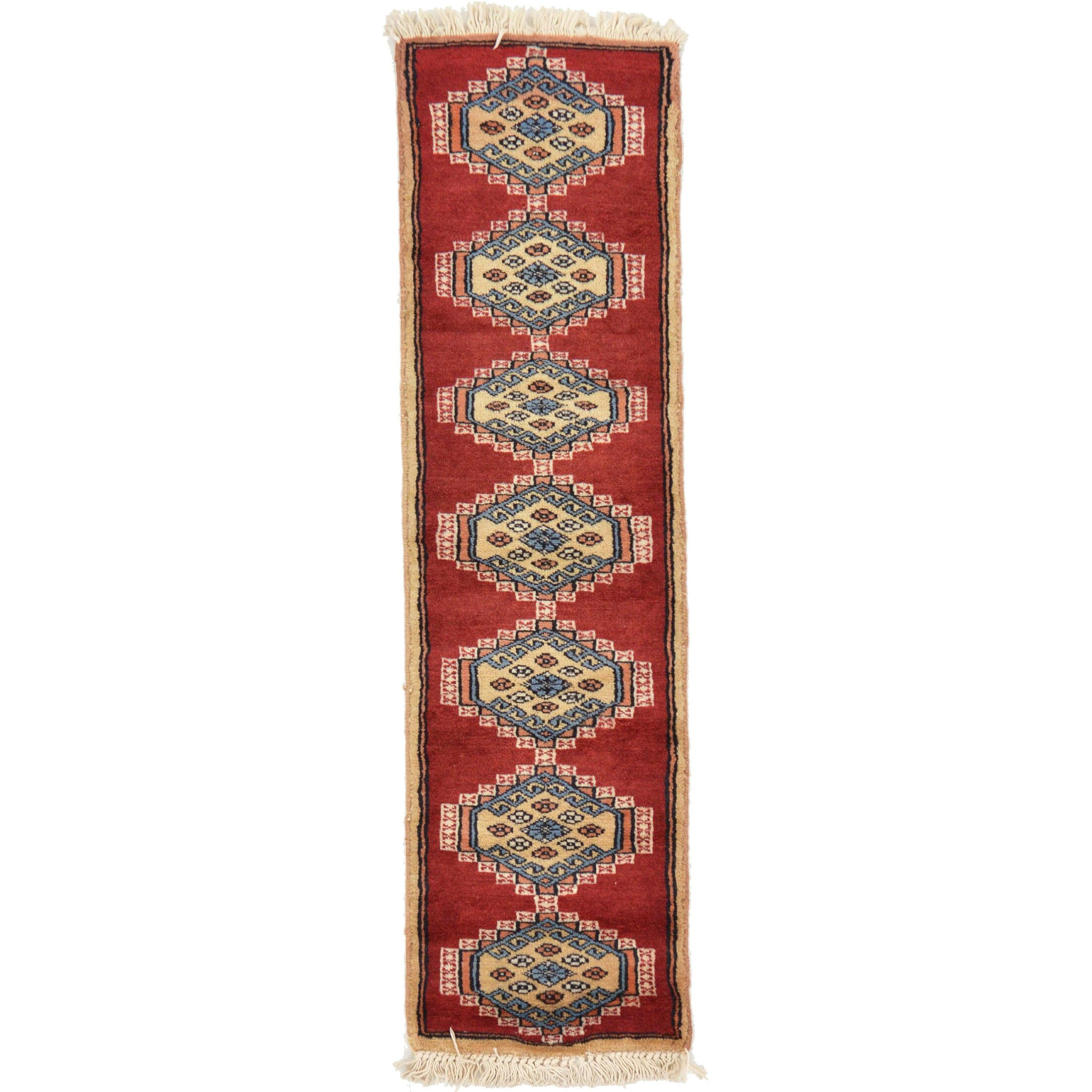 One-of-a-Kind Tekke Hand-Knotted Wool Red/Beige Area Rug