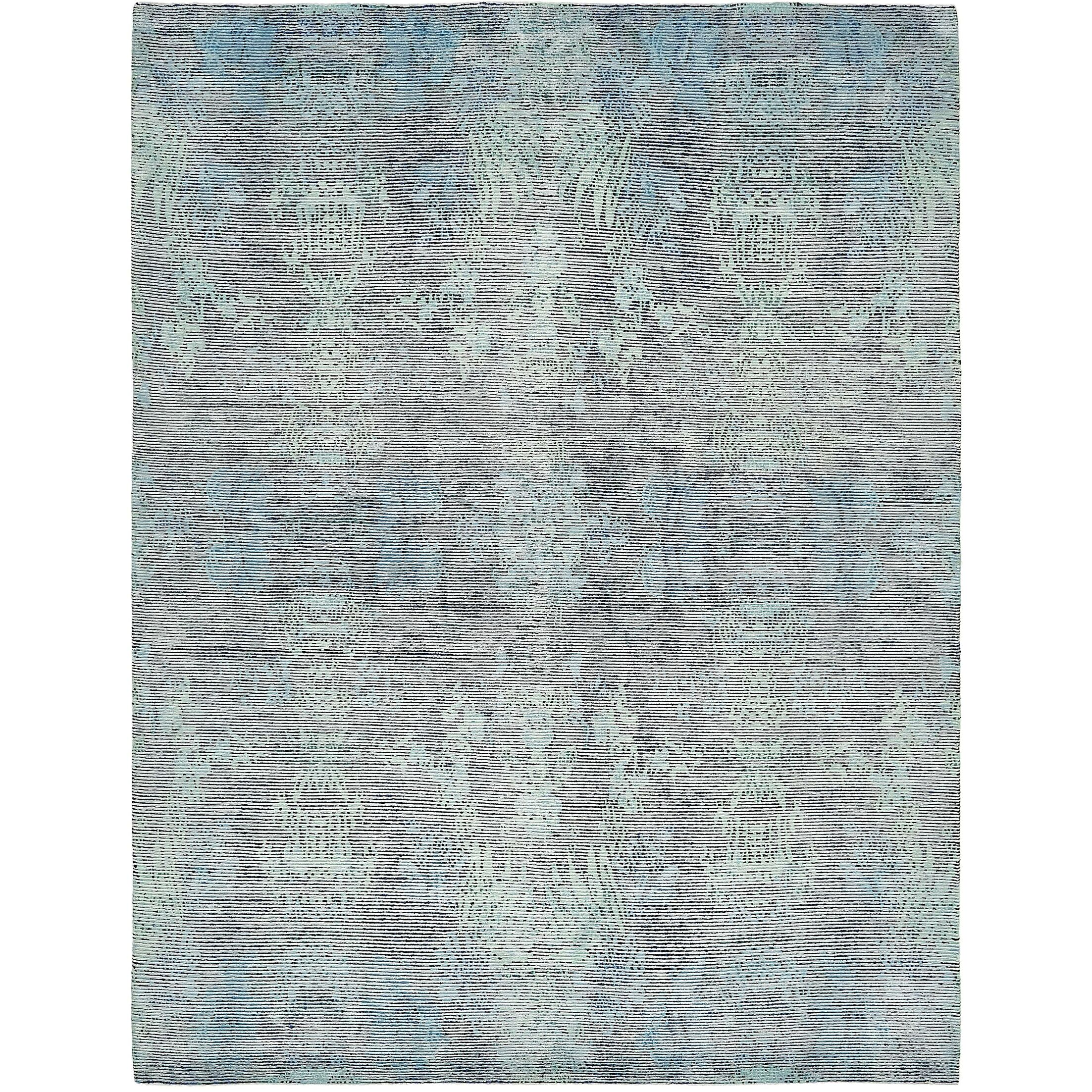 One-of-a-Kind Easton Hand-Knotted Wool/Silk Blue/Gray Area Rug