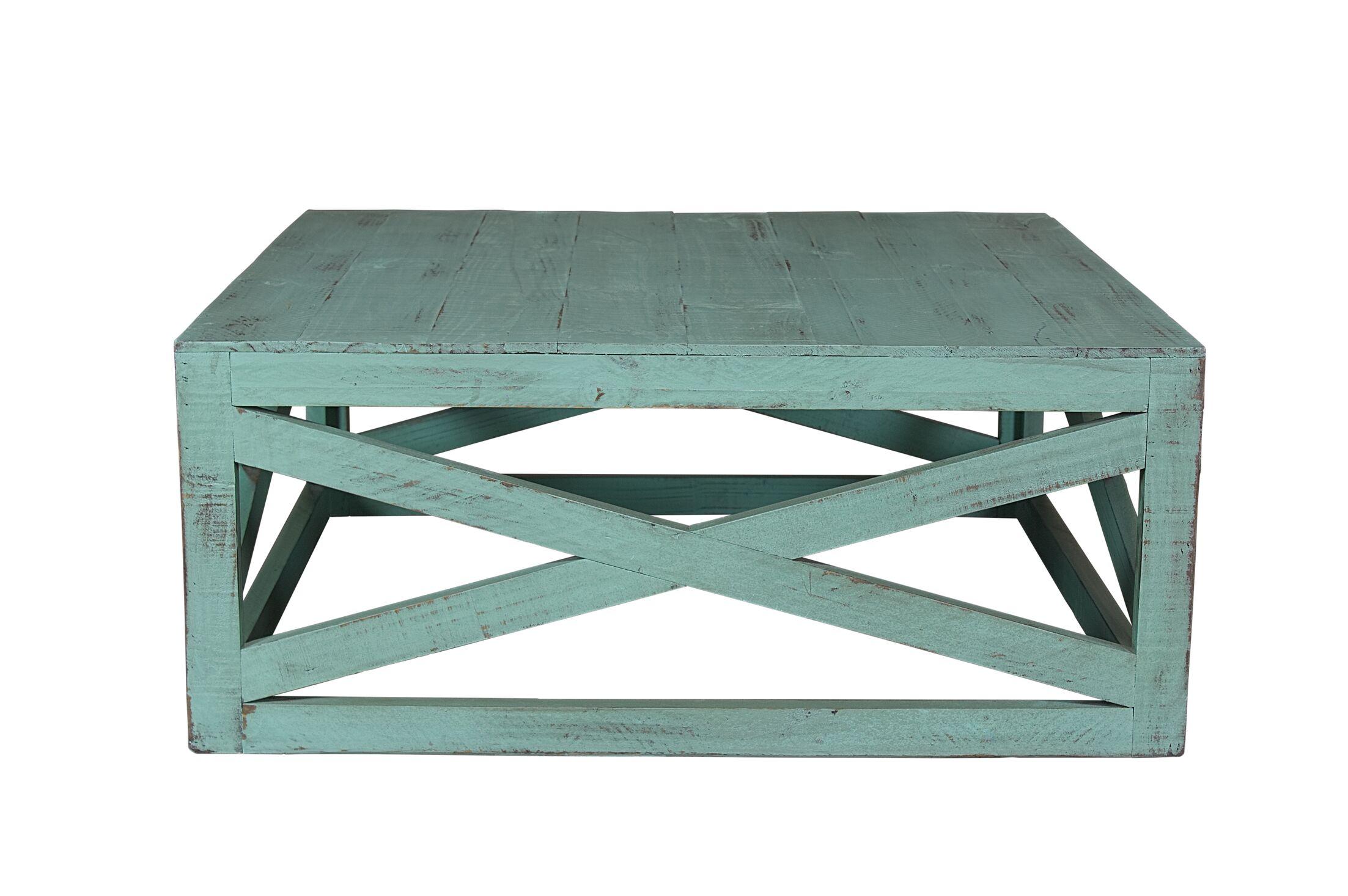 Porter Coffee Table Color: Aqua Green