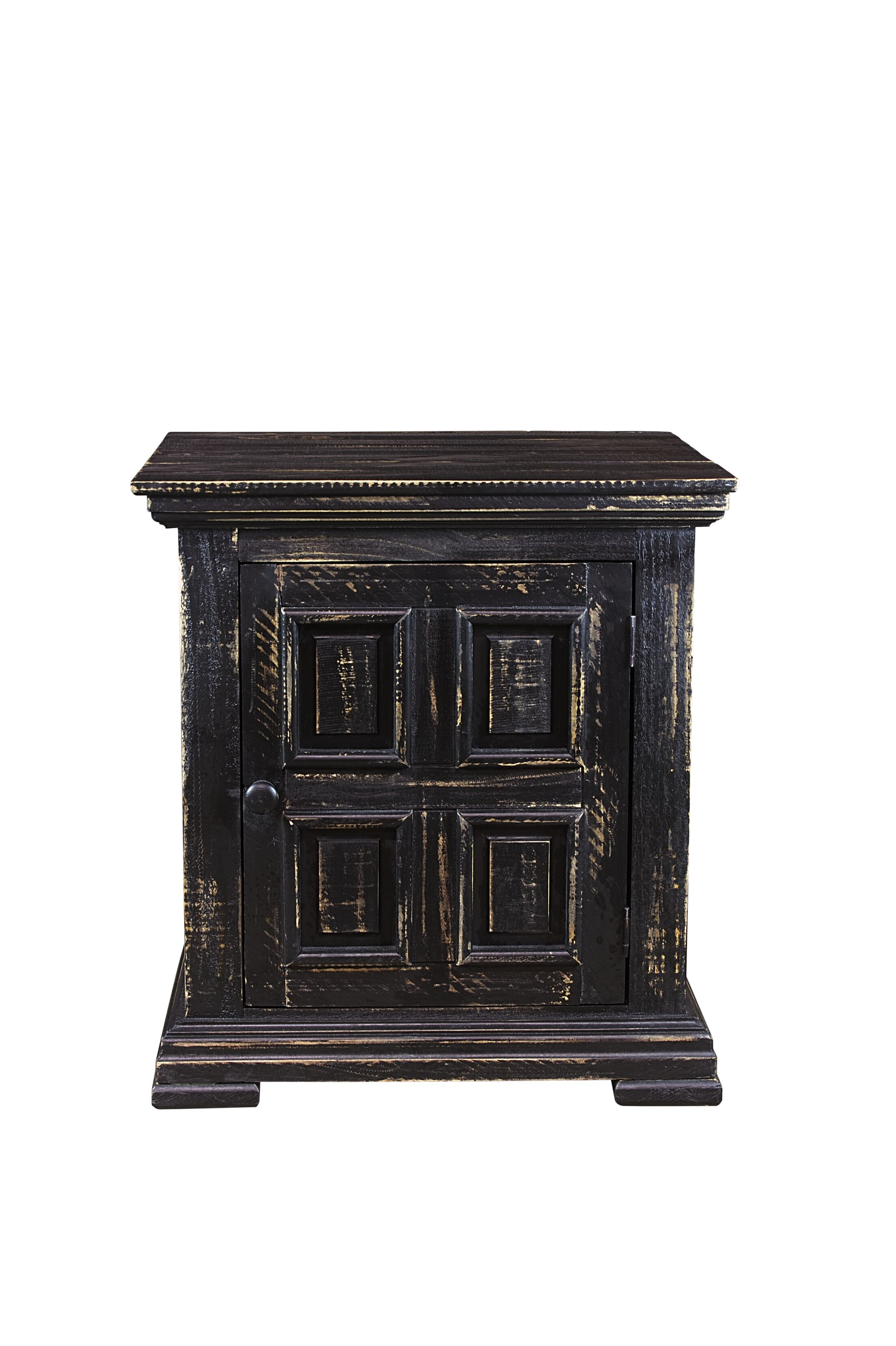 Popel End Table with Storage Color: Black
