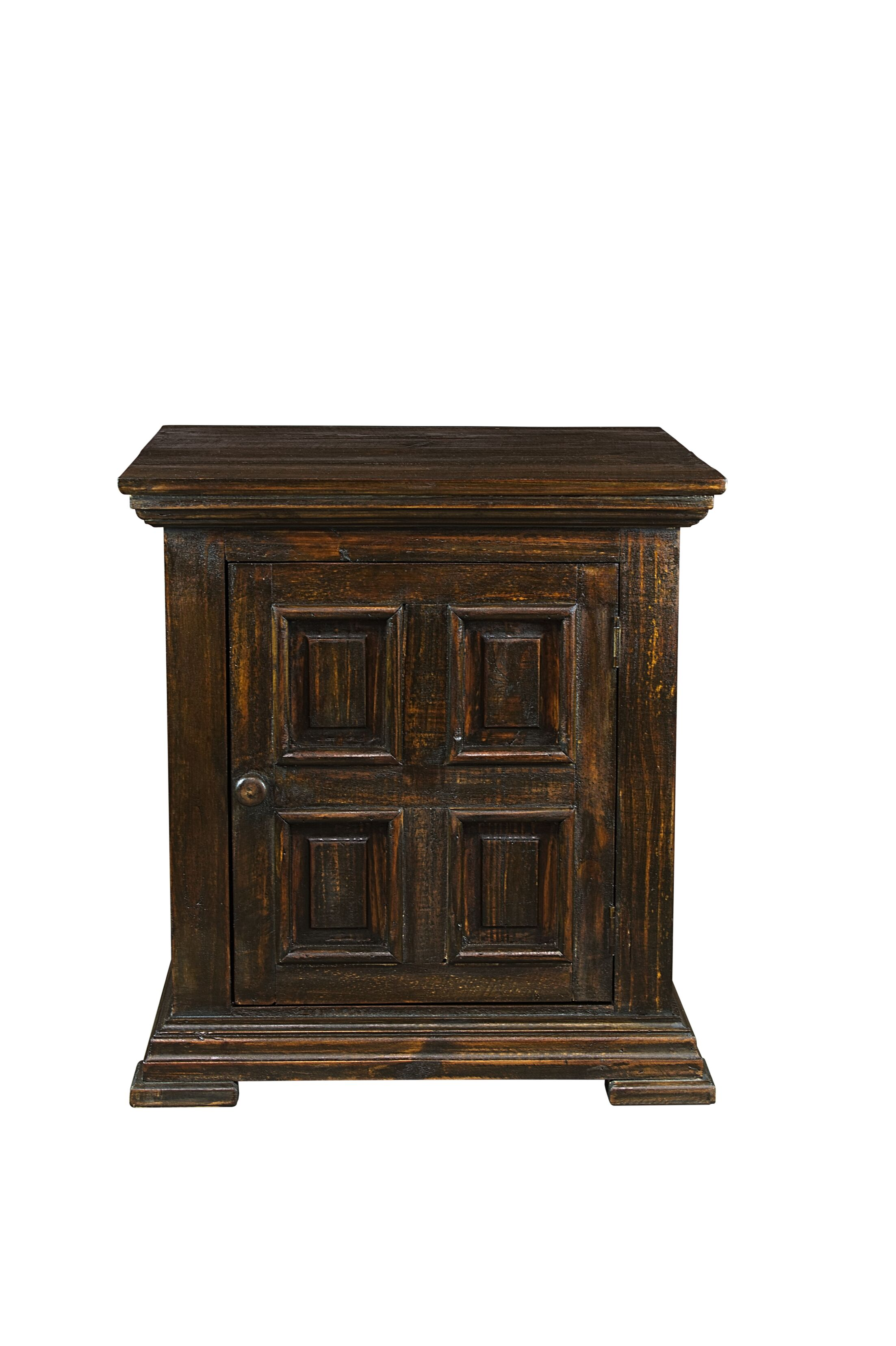 Popel End Table with Storage Color: Cowboy