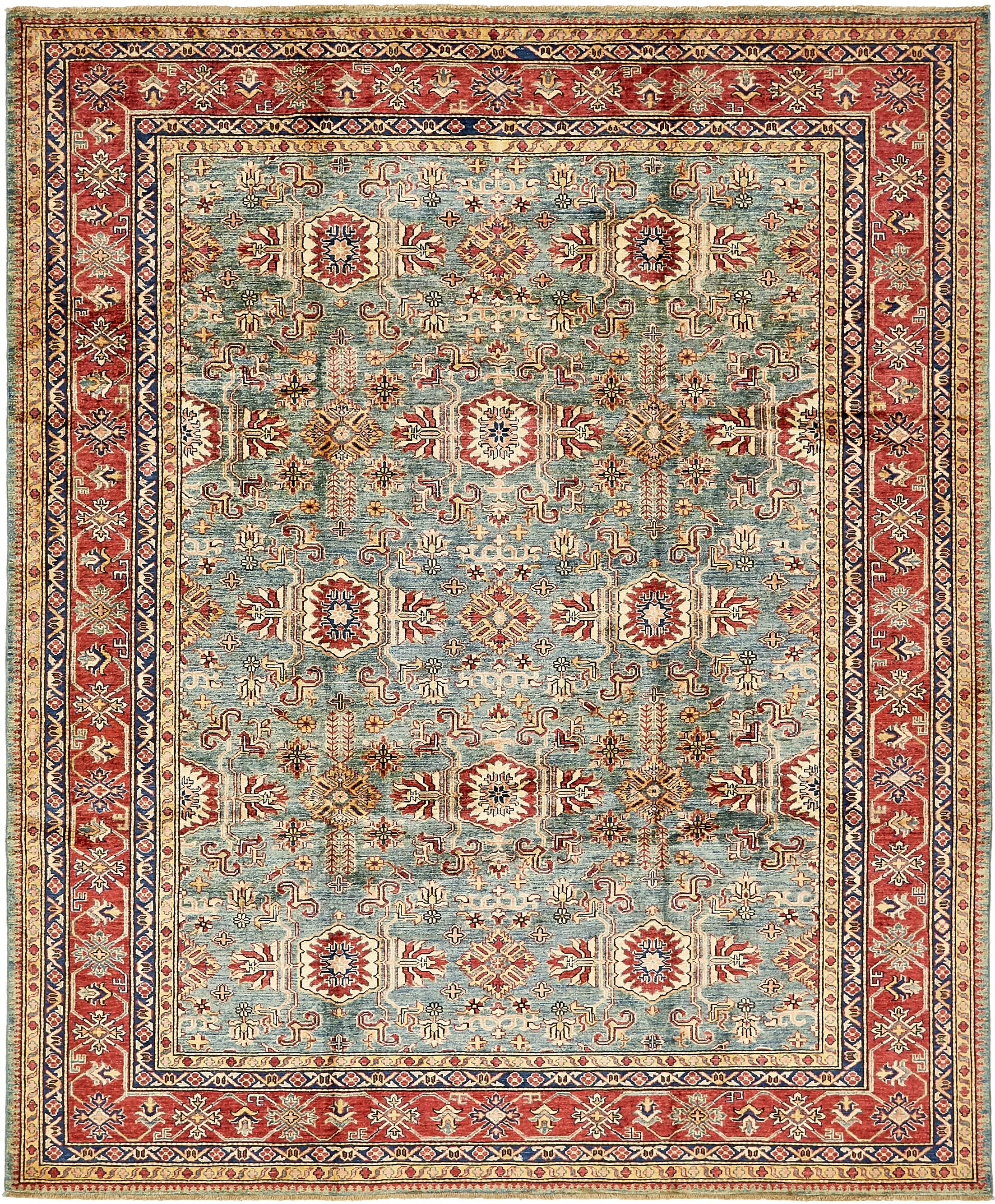 One-of-a-Kind Alayna Hand-Knotted Wool Blue Area Rug