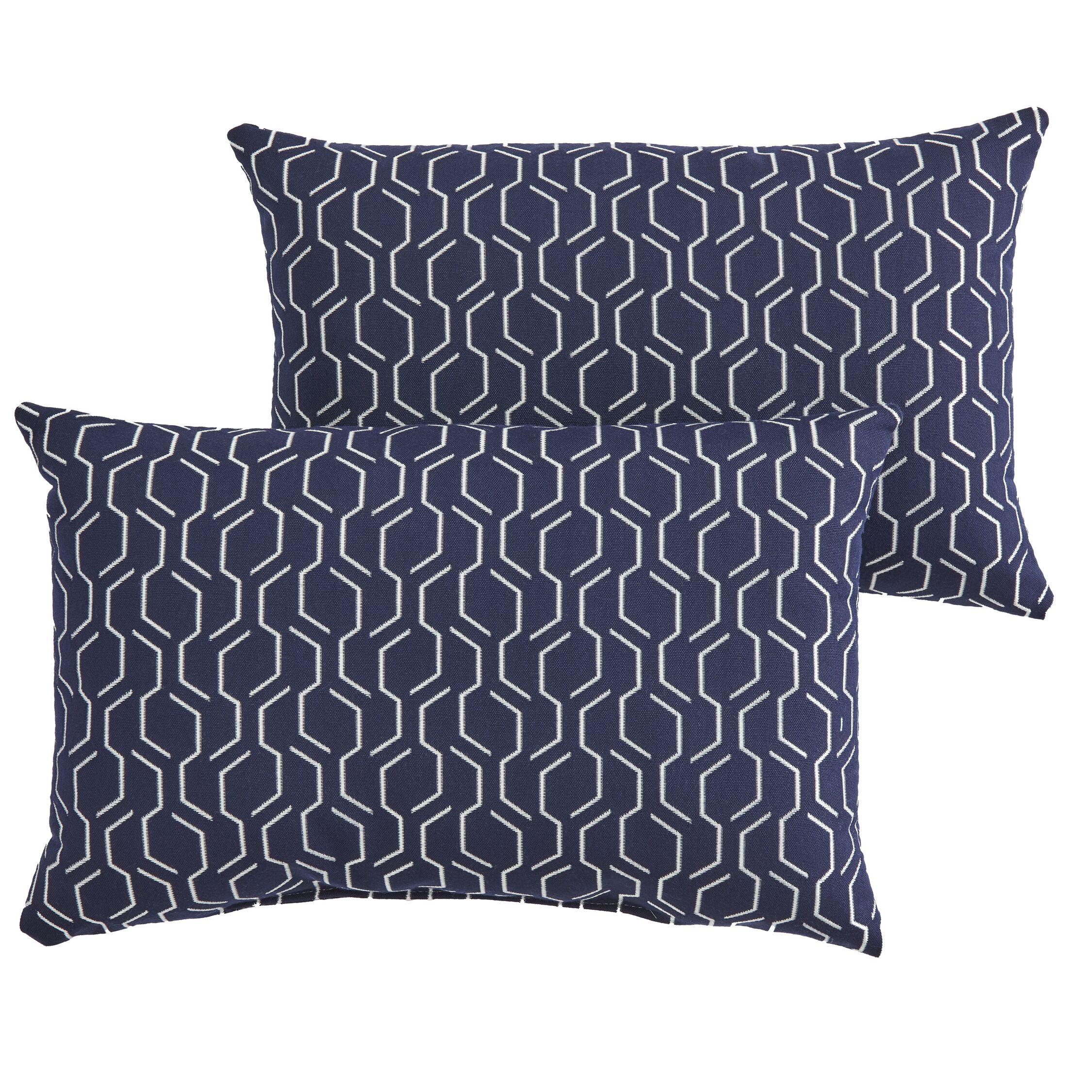 Hugo Indoor/Outdoor Sunbrella Lumbar Pillow Size: 12