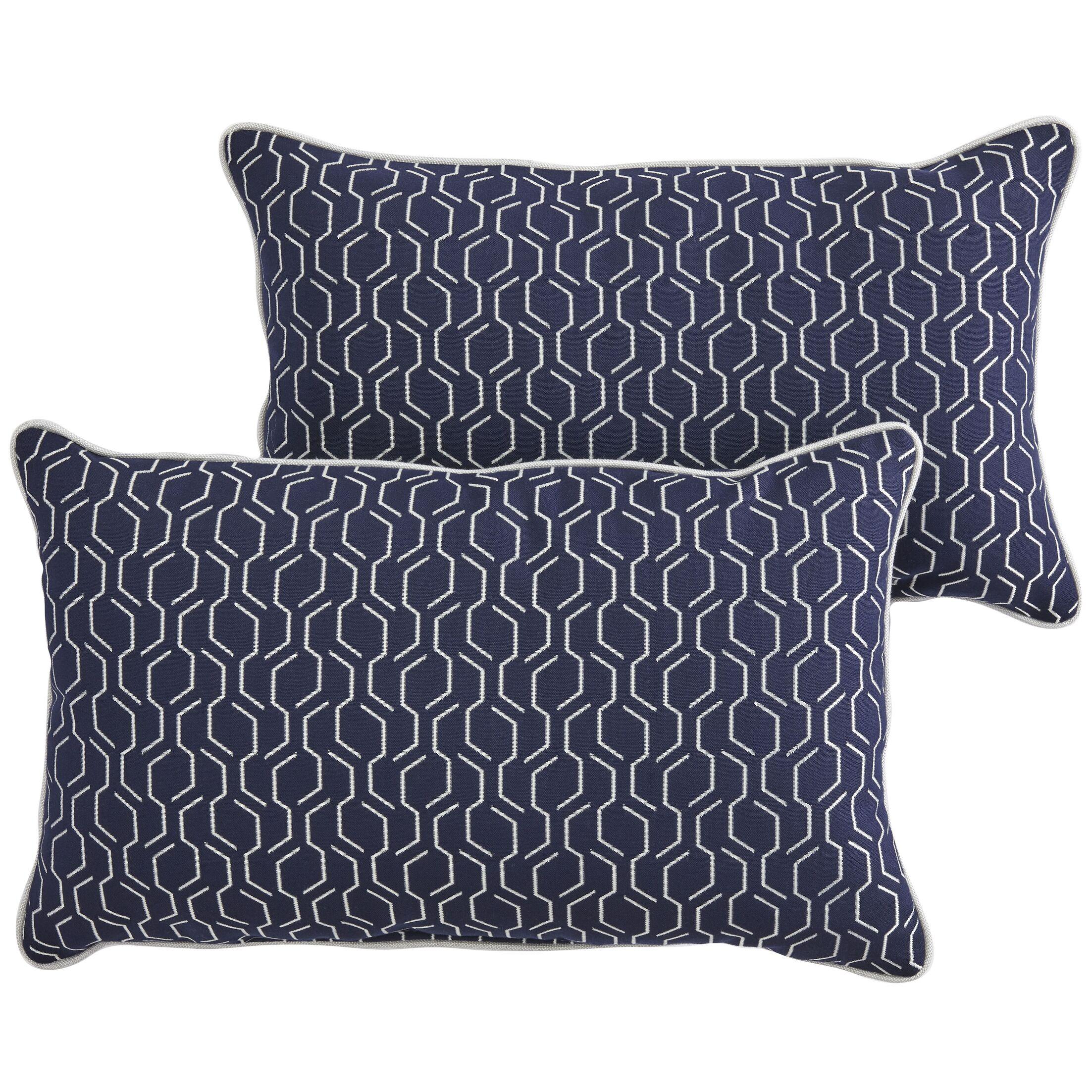 Hugley Indoor/Outdoor Sunbrella Lumbar Pillow