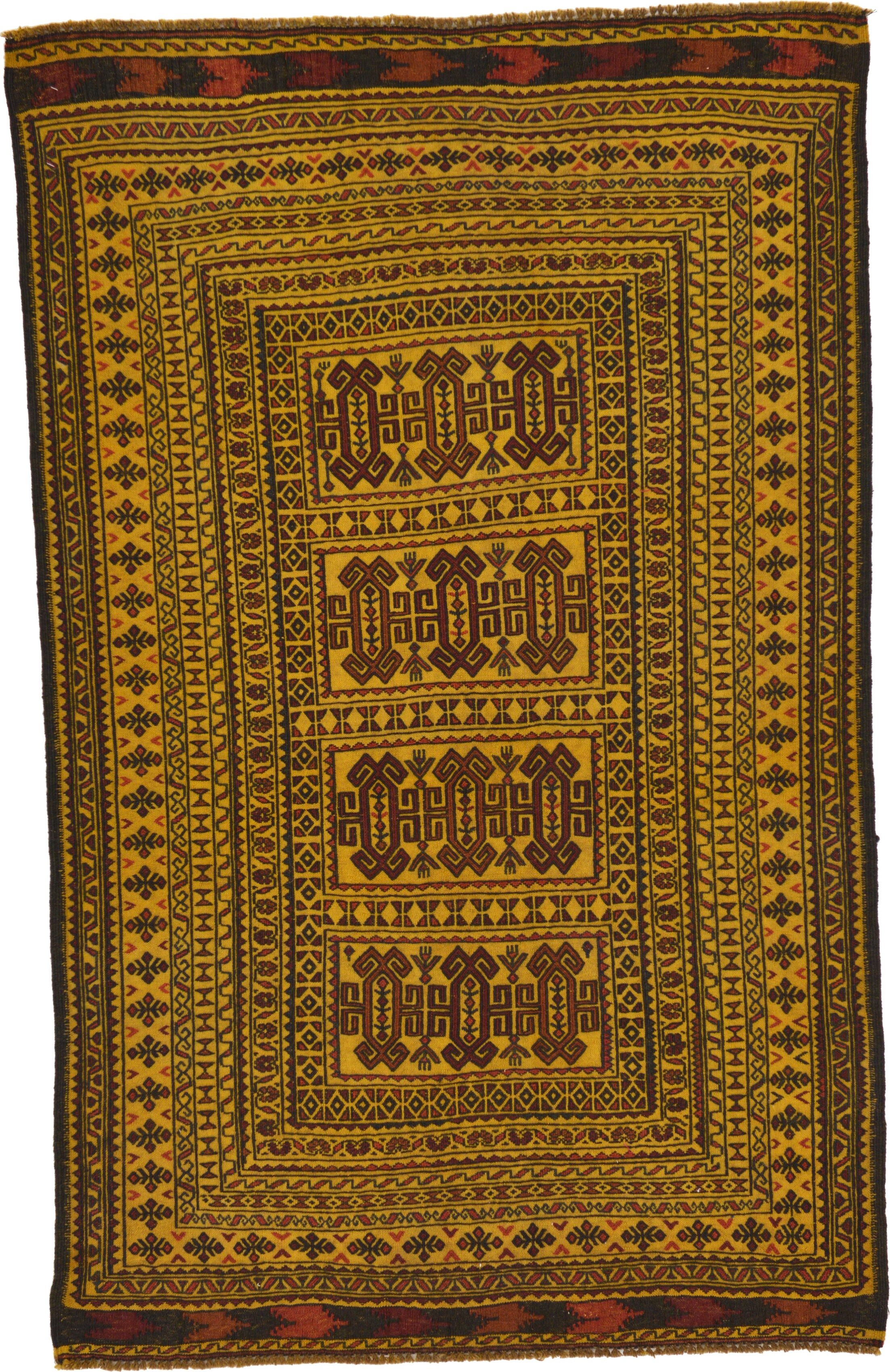 One-of-a-Kind Warminster Hand-Knotted Wool Brown/Green Area Rug