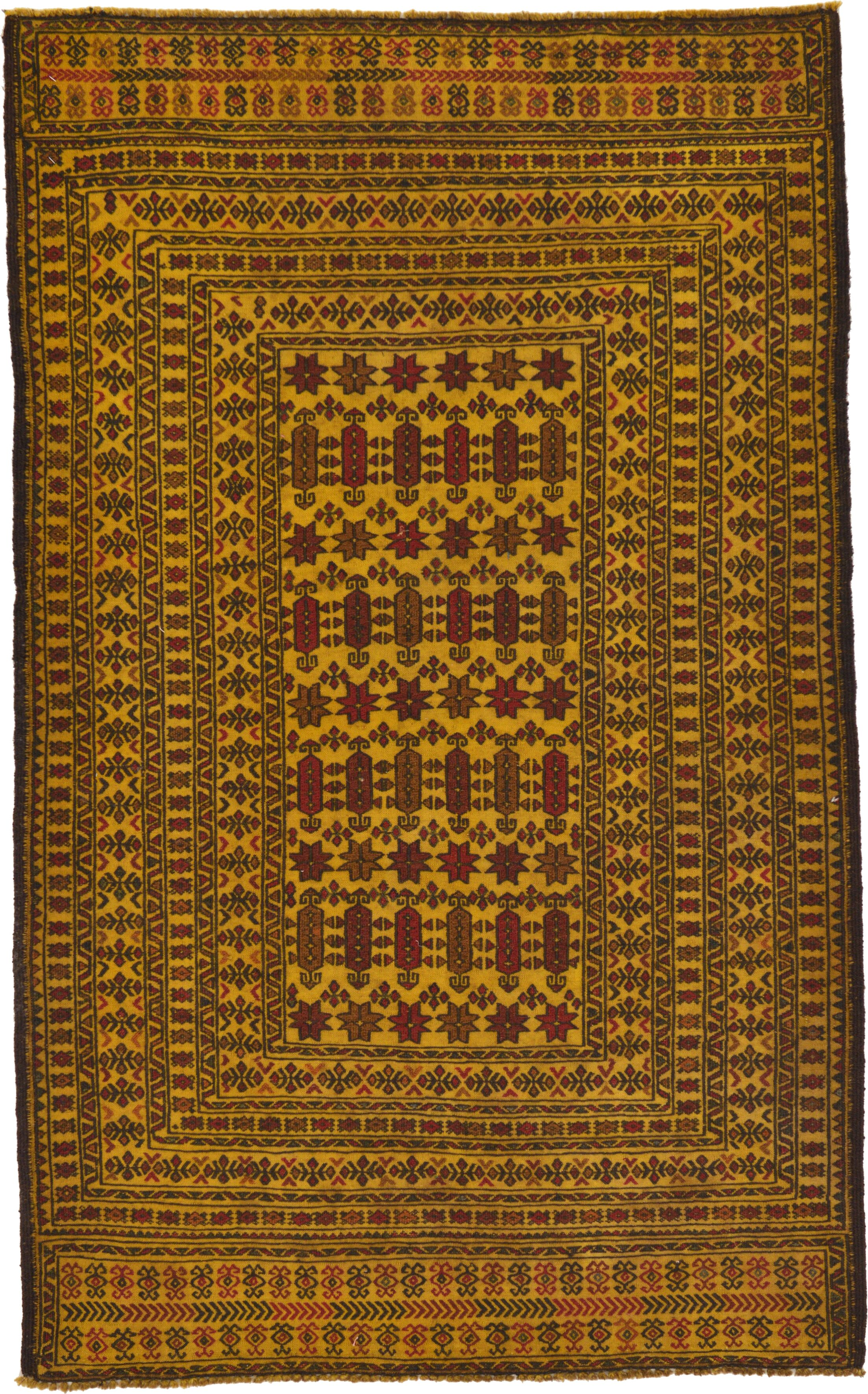 One-of-a-Kind Warminster Hand-Knotted Wool Yellow/Brown Area Rug
