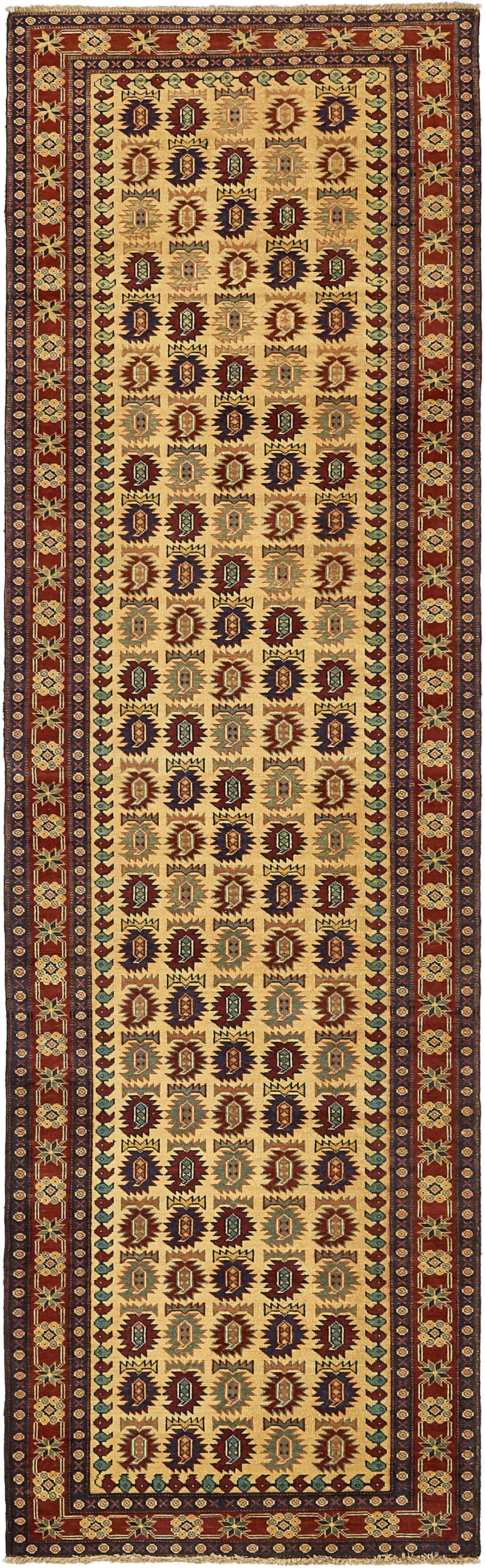 One-of-a-Kind Alayna Hand-Knotted Wool Beige Area Rug