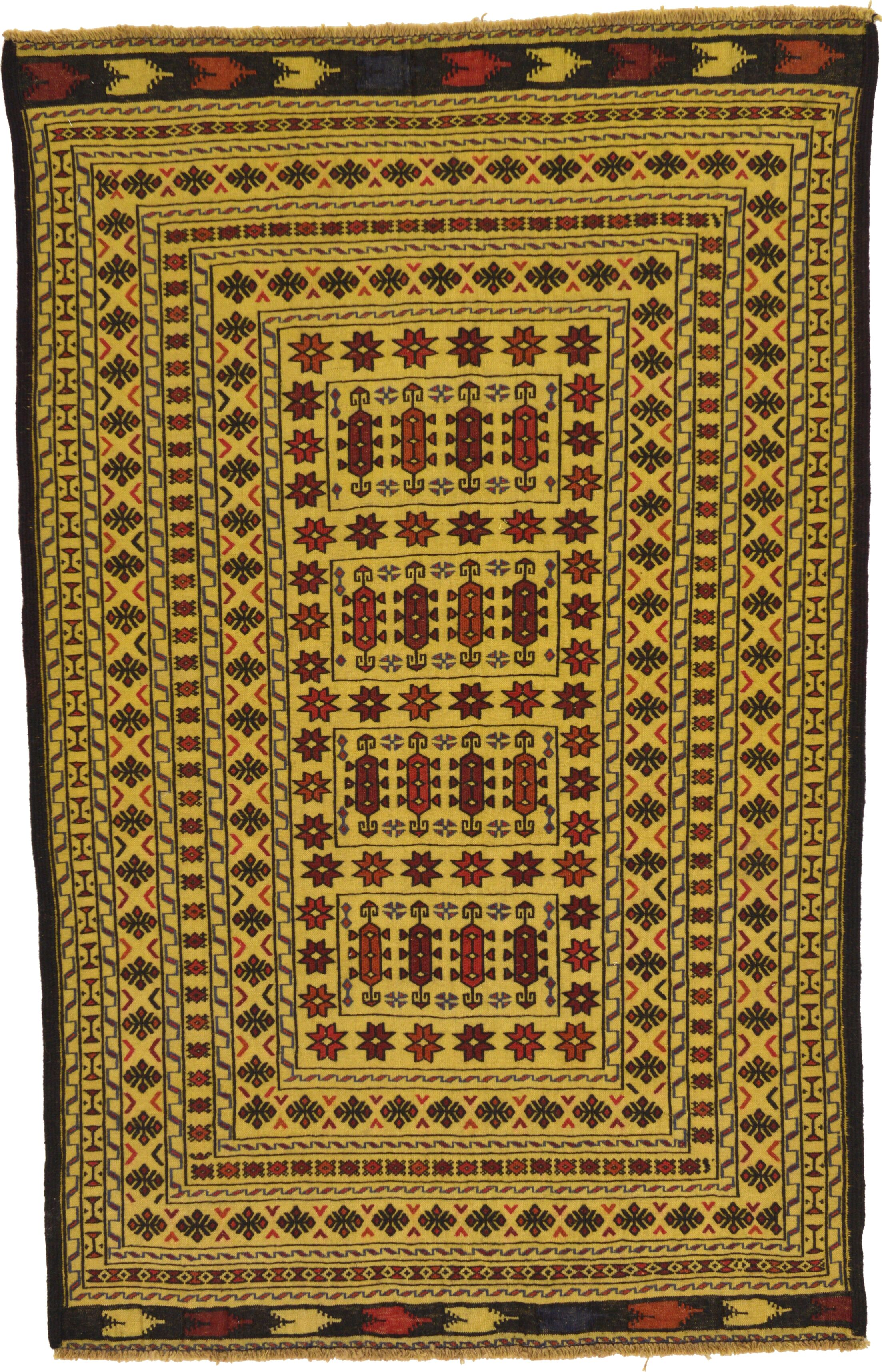 One-of-a-Kind Warminster Hand-Knotted Wool Brown/Yellow Area Rug
