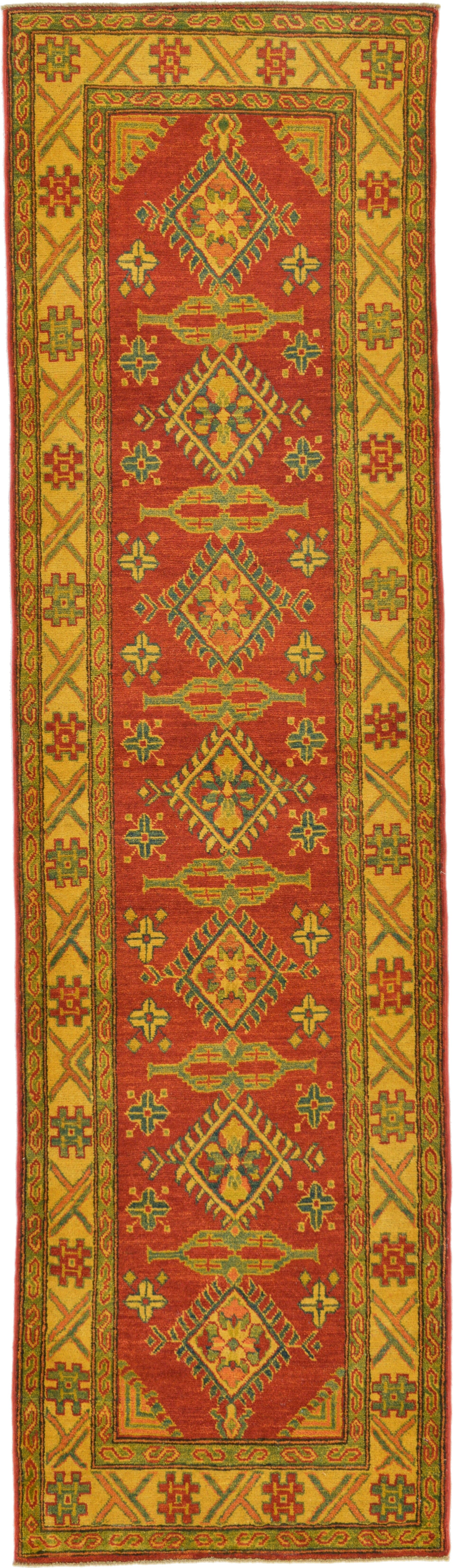 One-of-a-Kind Alayna Hand-Knotted Wool Yellow/Red/Green Area Rug