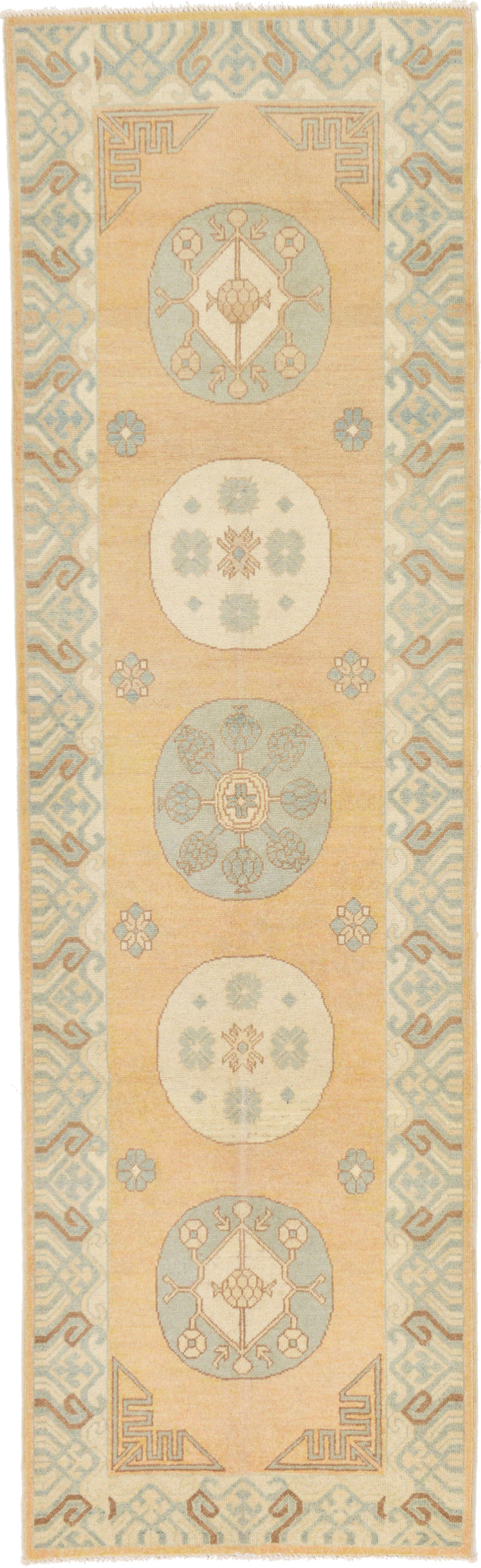 One-of-a-Kind Wareham Hand-Knotted Wool Beige Area Rug