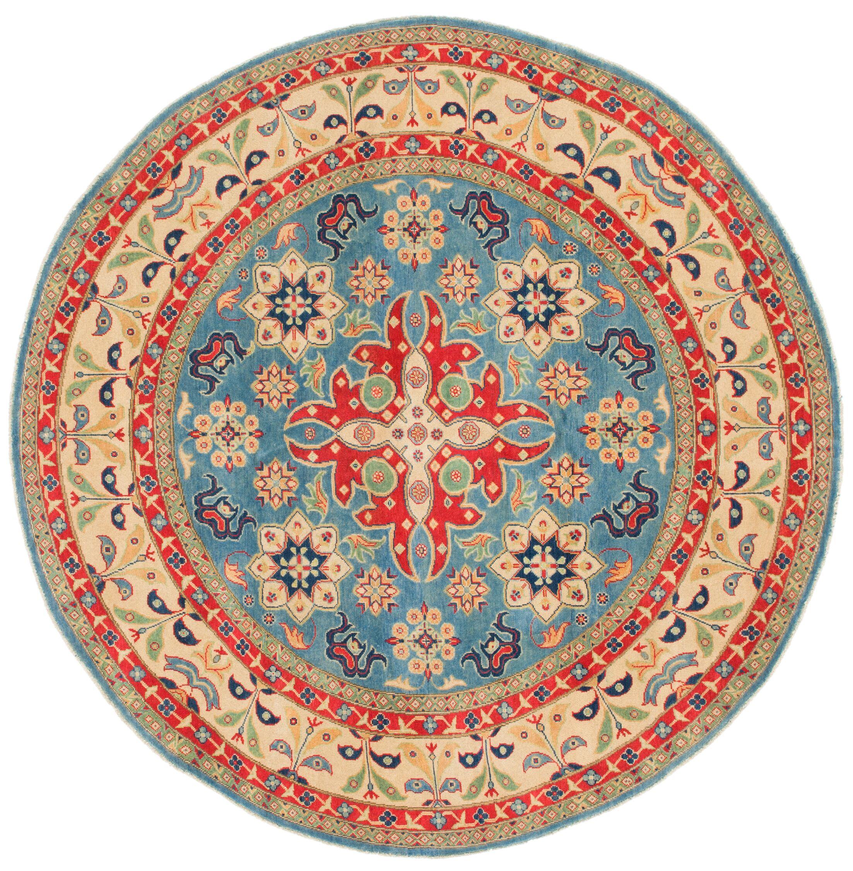 One-of-a-Kind Alayna Hand-Knotted WoolLight Blue/BeigeArea Rug