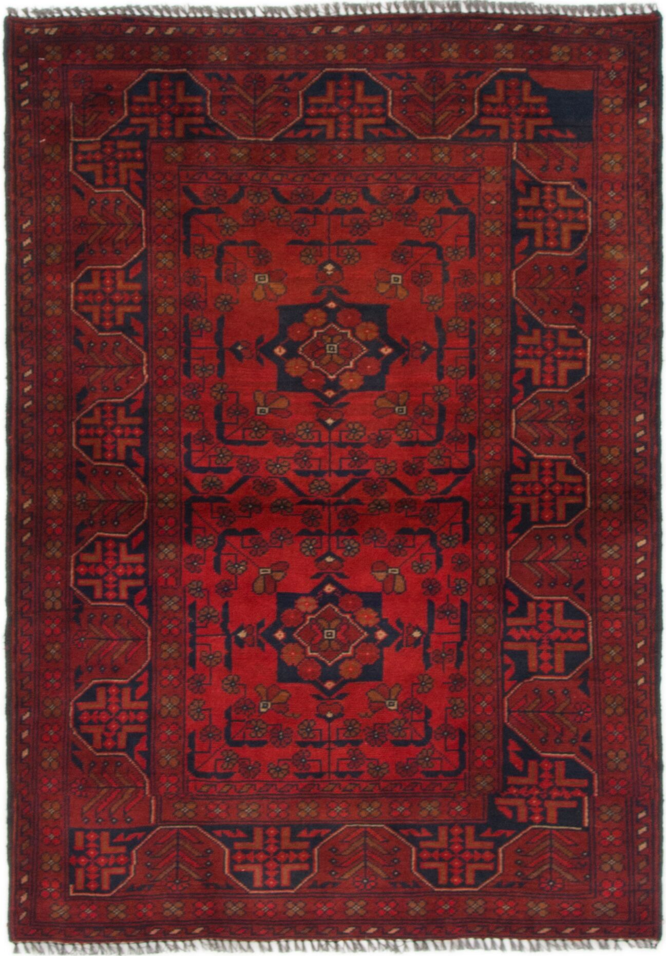 One-of-a-Kind Auxvasse Hand-Knotted Wool Red Area Rug