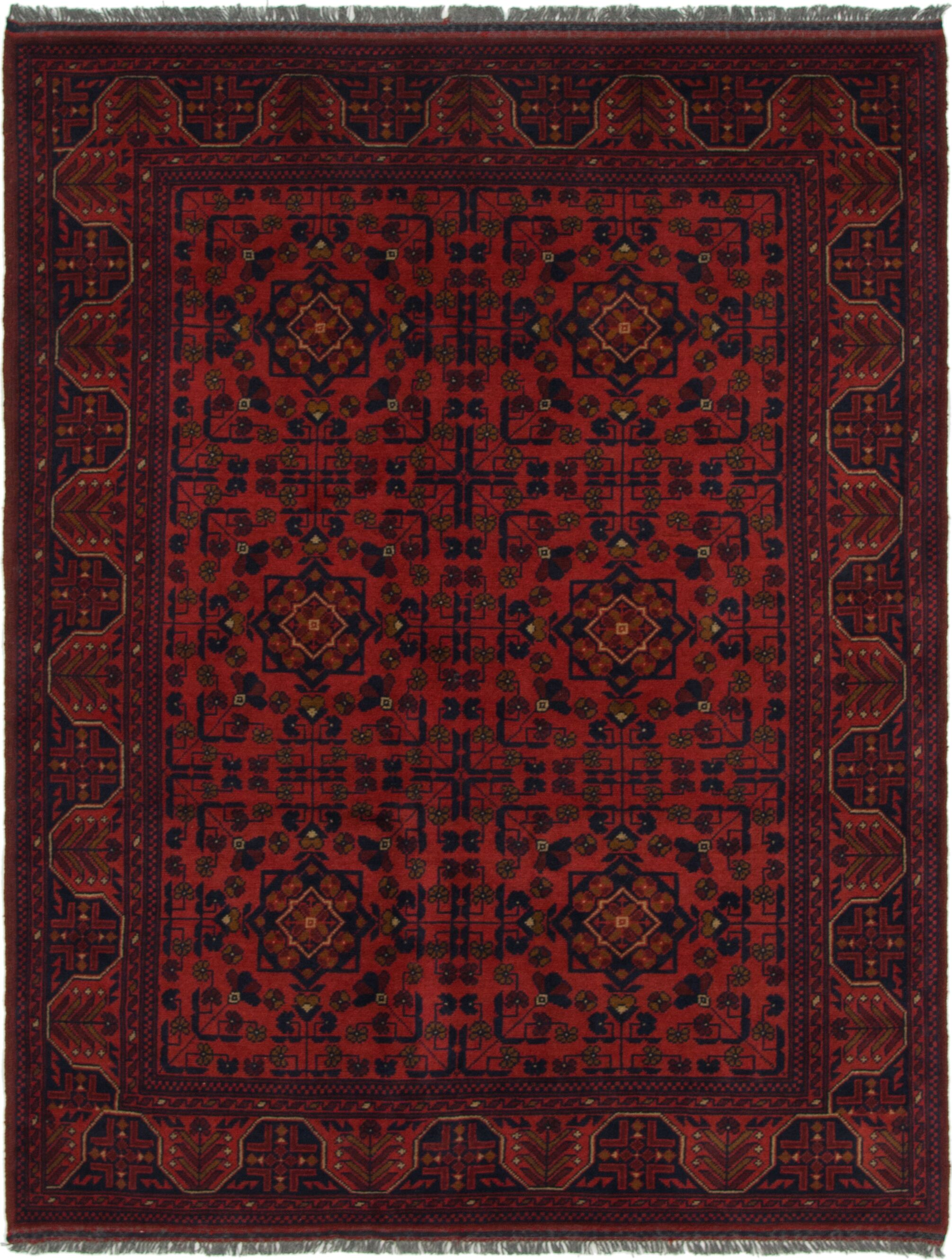 One-of-a-Kind Auxvasse Hand-Knotted WoolRedArea Rug