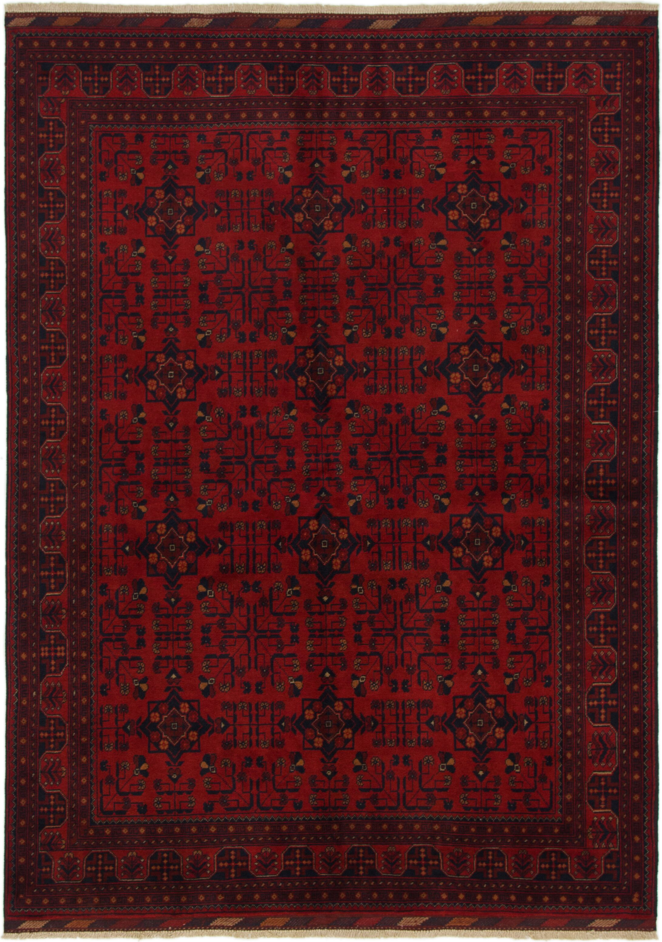 One-of-a-Kind Auxvasse Hand-Knotted Wool Burgundy Area Rug