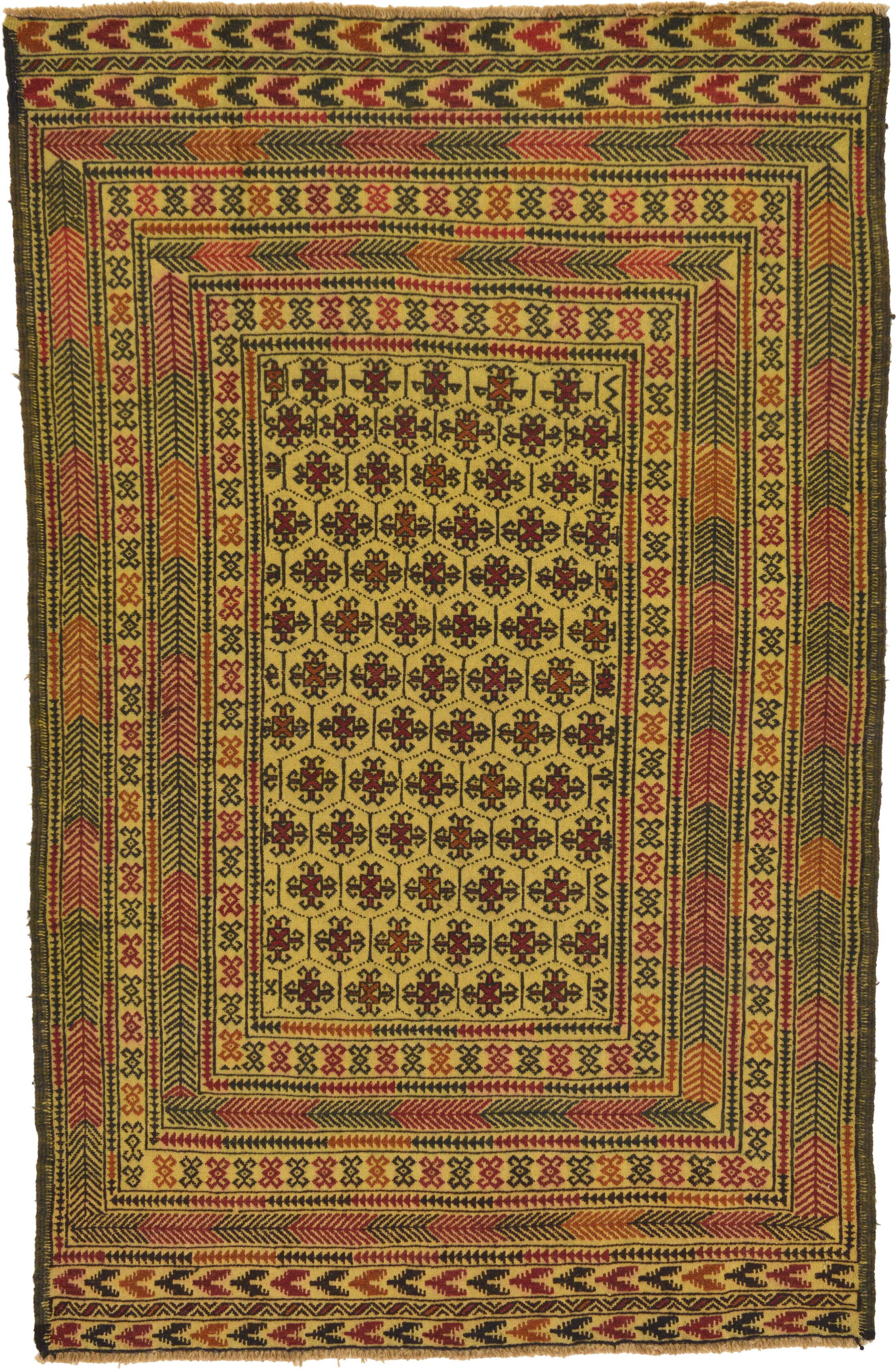 One-of-a-Kind Warminster Hand-Knotted 4'3
