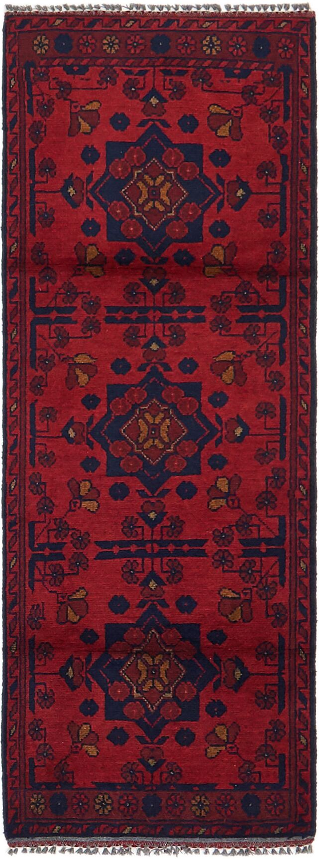 One-of-a-Kind Auxvasse Hand-Knotted 1'9
