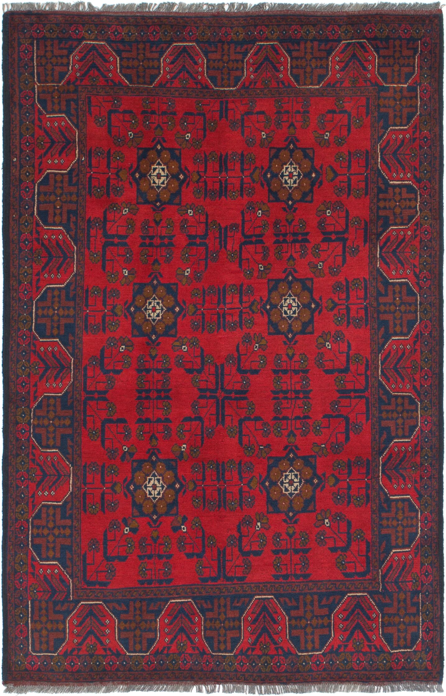 One-of-a-Kind Auxvasse Hand-Knotted 4' x 6'5