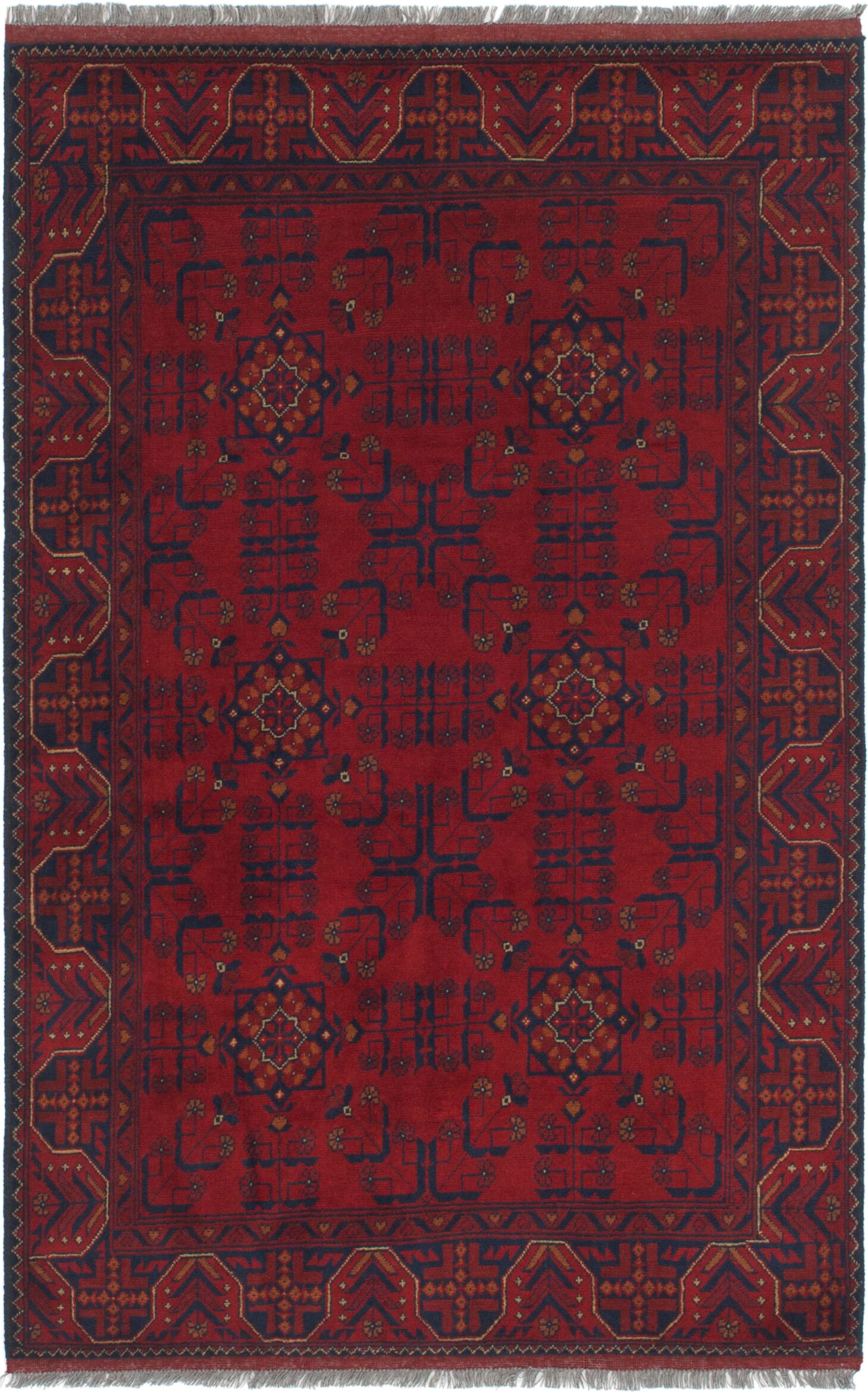 One-of-a-Kind Auxvasse Hand-Knotted 4'2
