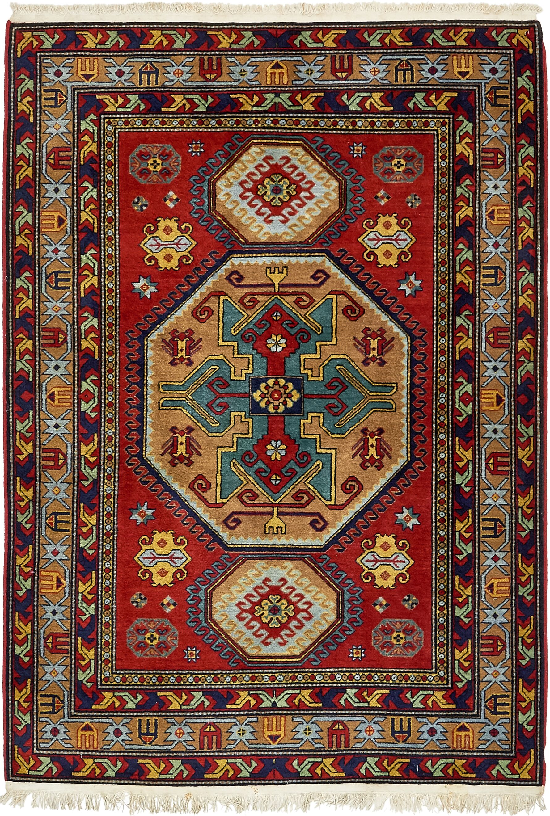 One-of-a-Kind Alayna Hand-Knotted Wool Red/Brown Area Rug