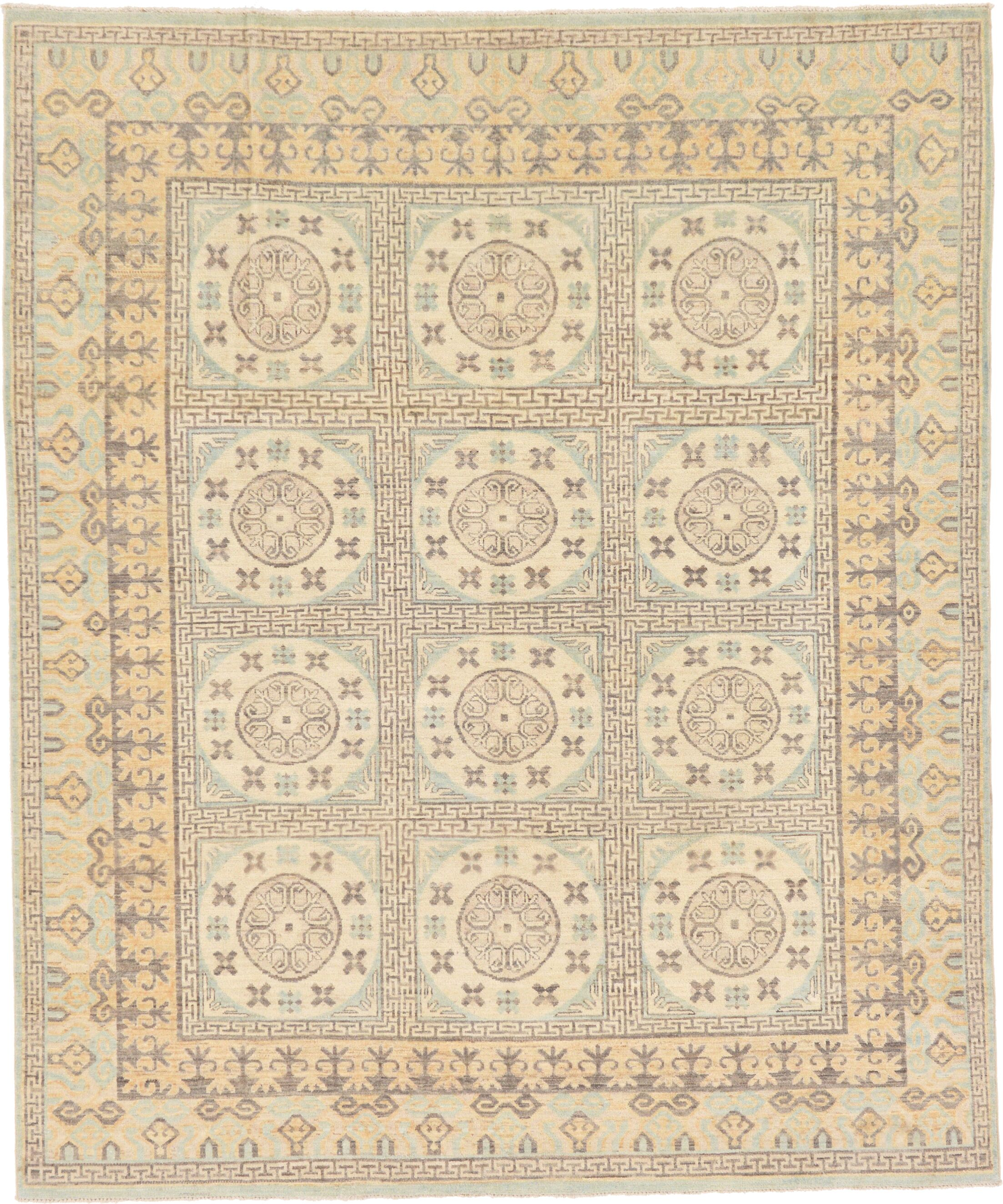 One-of-a-Kind Wareham Hand-Knotted Wool Ivory Area Rug