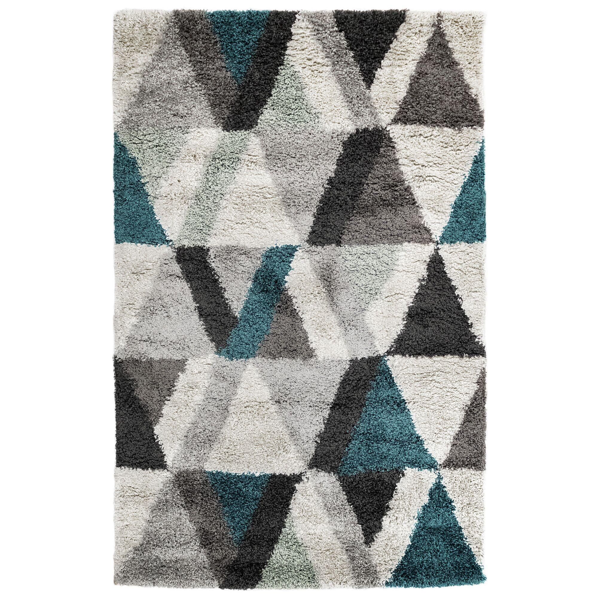 Bonham Triangle Gray Area Rug Size: Rectangle 7'10