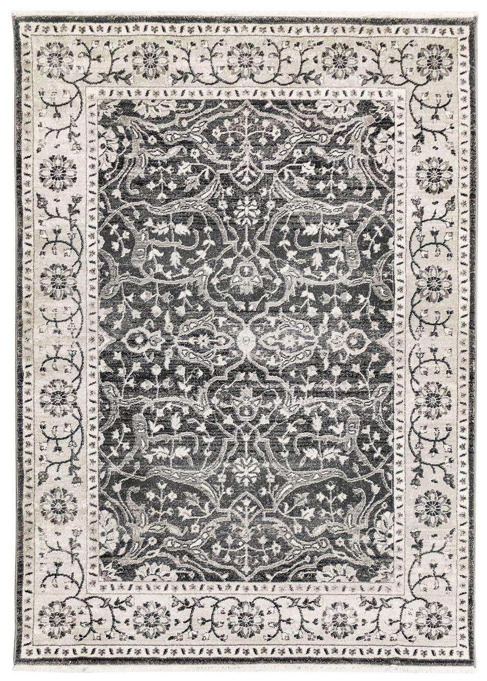 Osblek Oushak Beige/Gray Area Rug Size: Rectangle 8'10