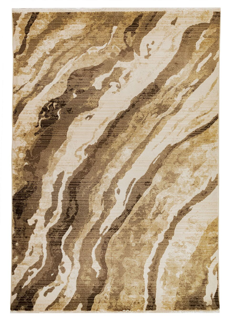Olive Brown/Beige Area Rug Size: Rectangle 4'11