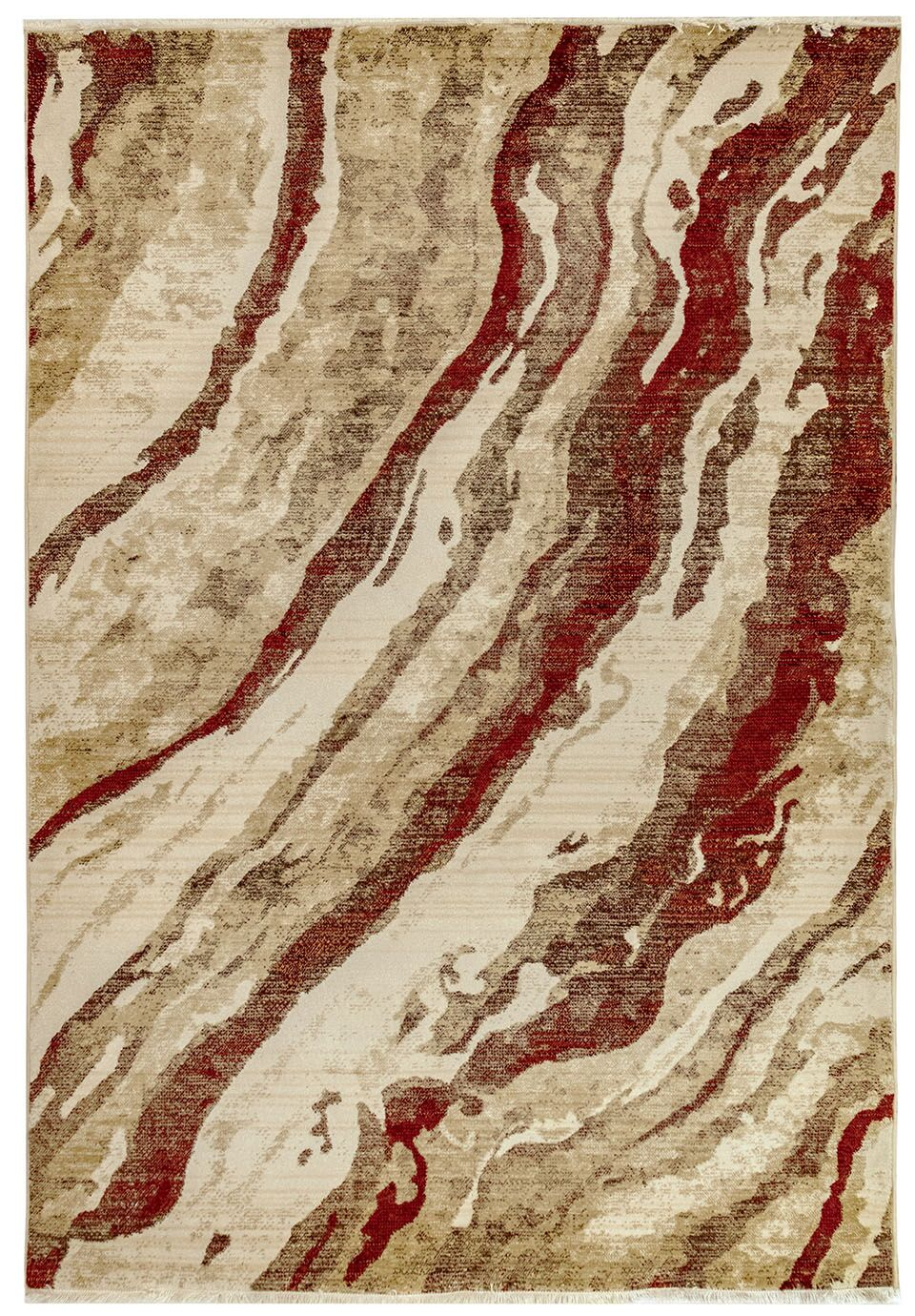 Olive Brown/Red Area Rug Size: Rectangle 4'11