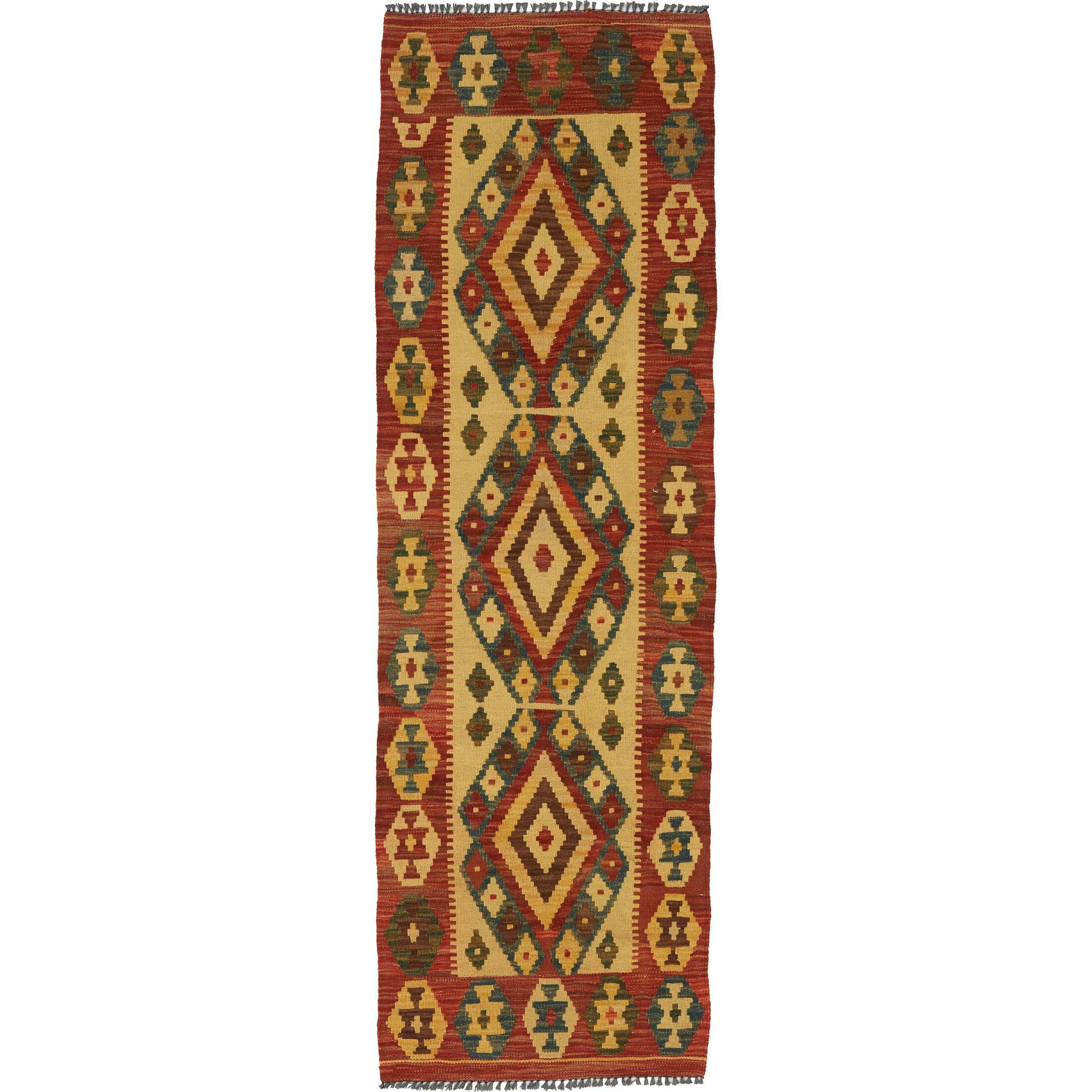 One-of-a-Kind Doorfield Hand-Knotted Wool  2' x 6'3