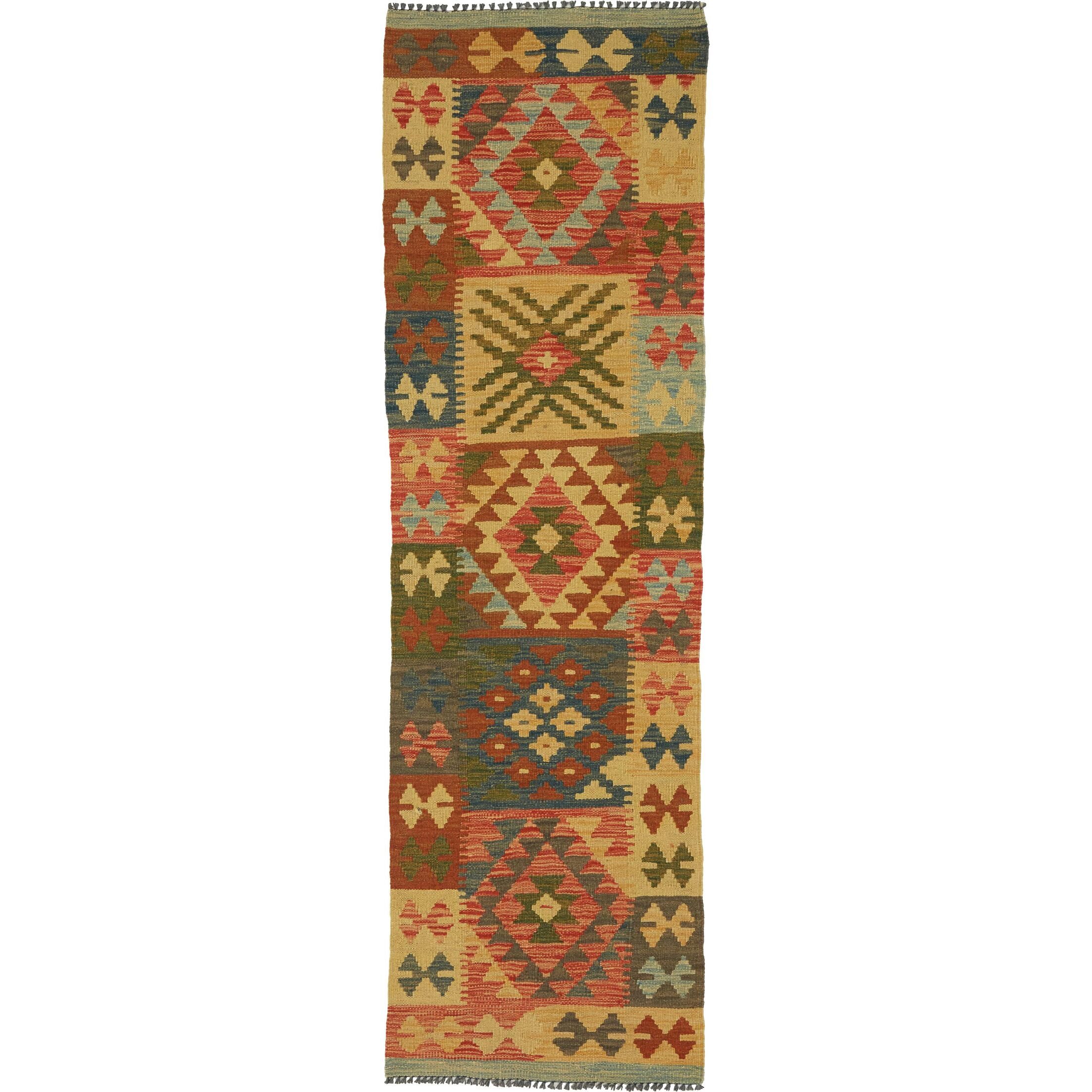 One-of-a-Kind Doorfield Hand-Knotted Wool  1'11
