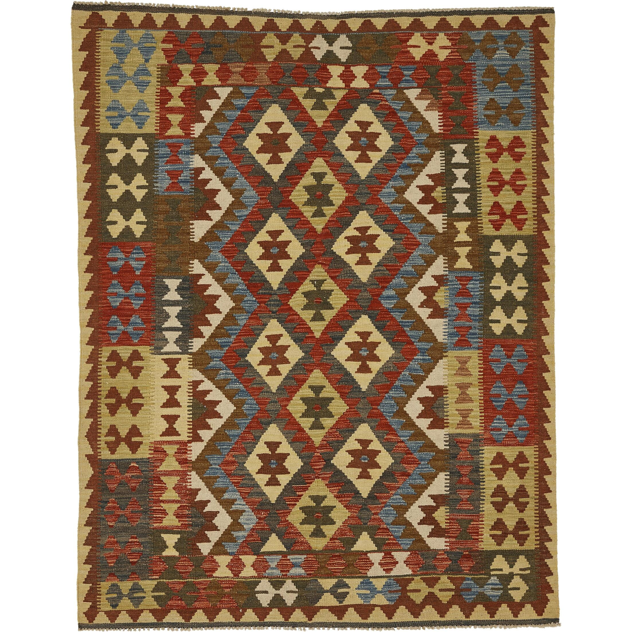 One-of-a-Kind Doorfield Hand-Knotted Wool 5' x 6'3