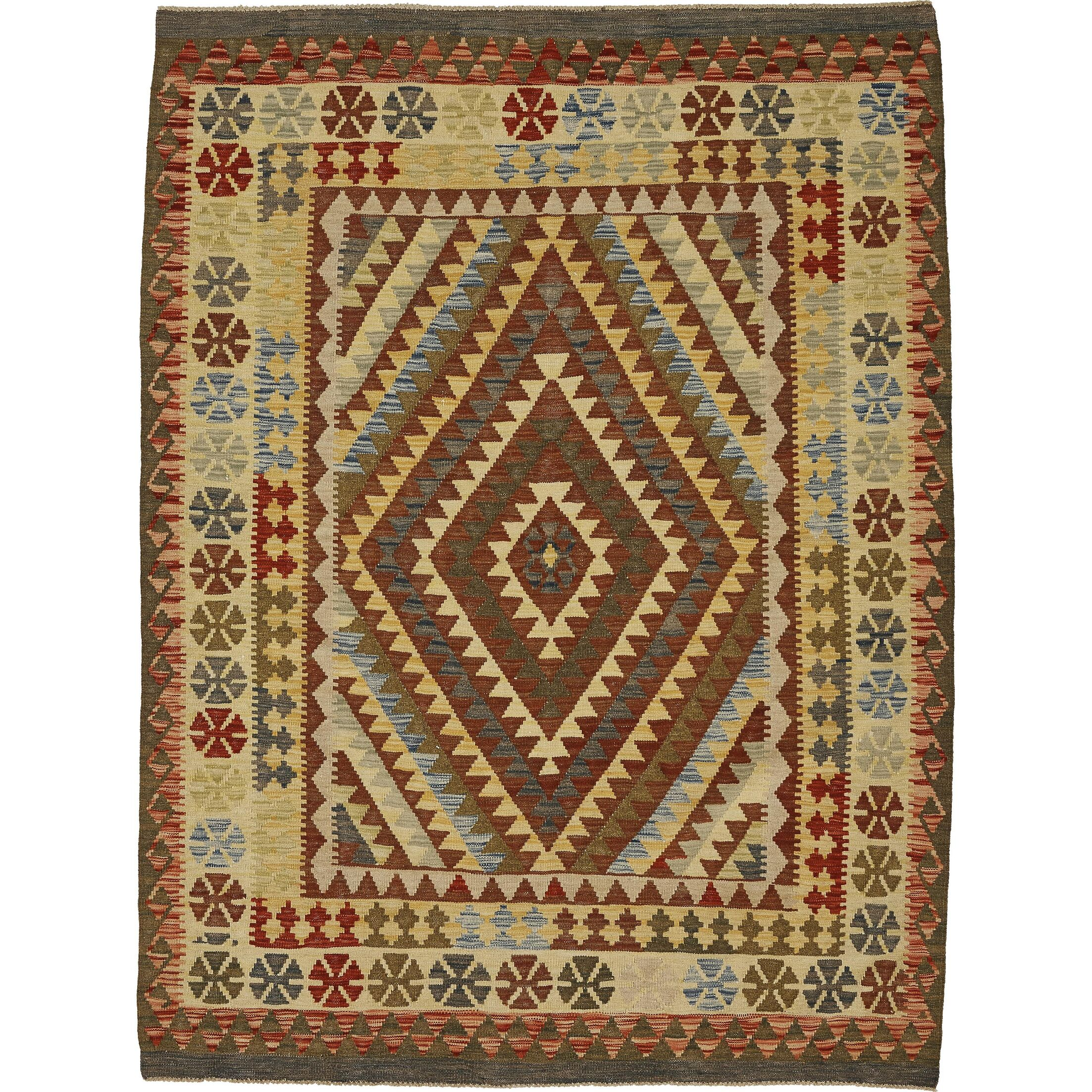 One-of-a-Kind Doorfield Hand-Knotted Wool 5' x 6'8
