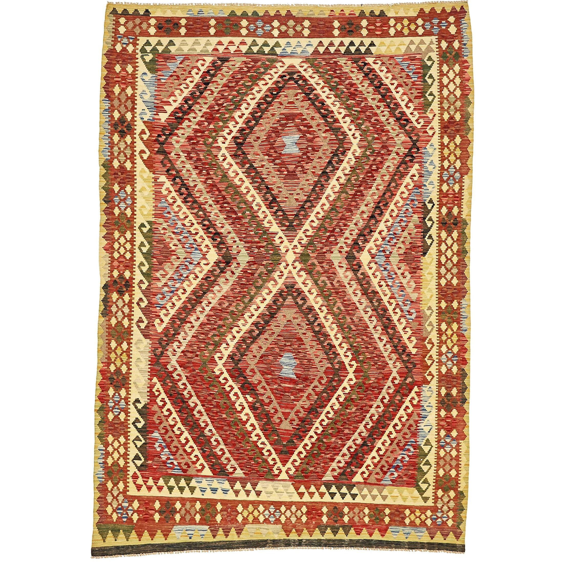 One-of-a-Kind Doorfield Hand-Knotted Wool 5'6
