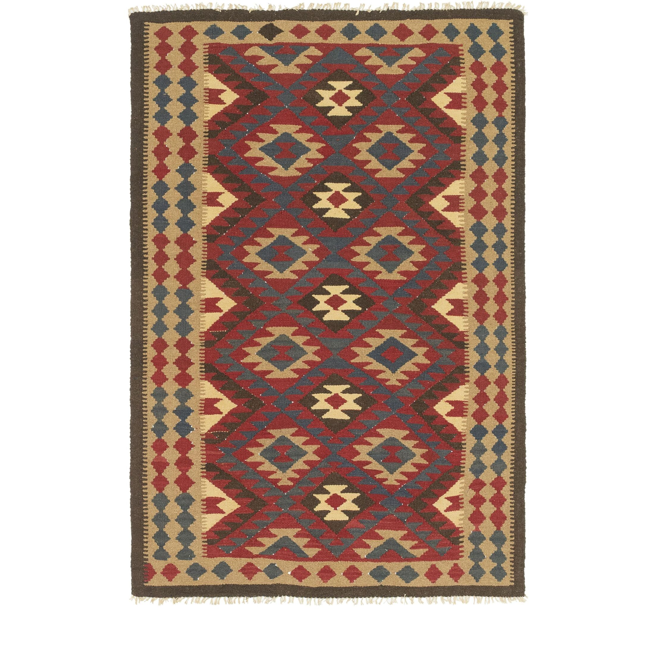 One-of-a-Kind Lorain Hand-Knotted 5' x 8' Wool Burgundy/Orange Area Rug